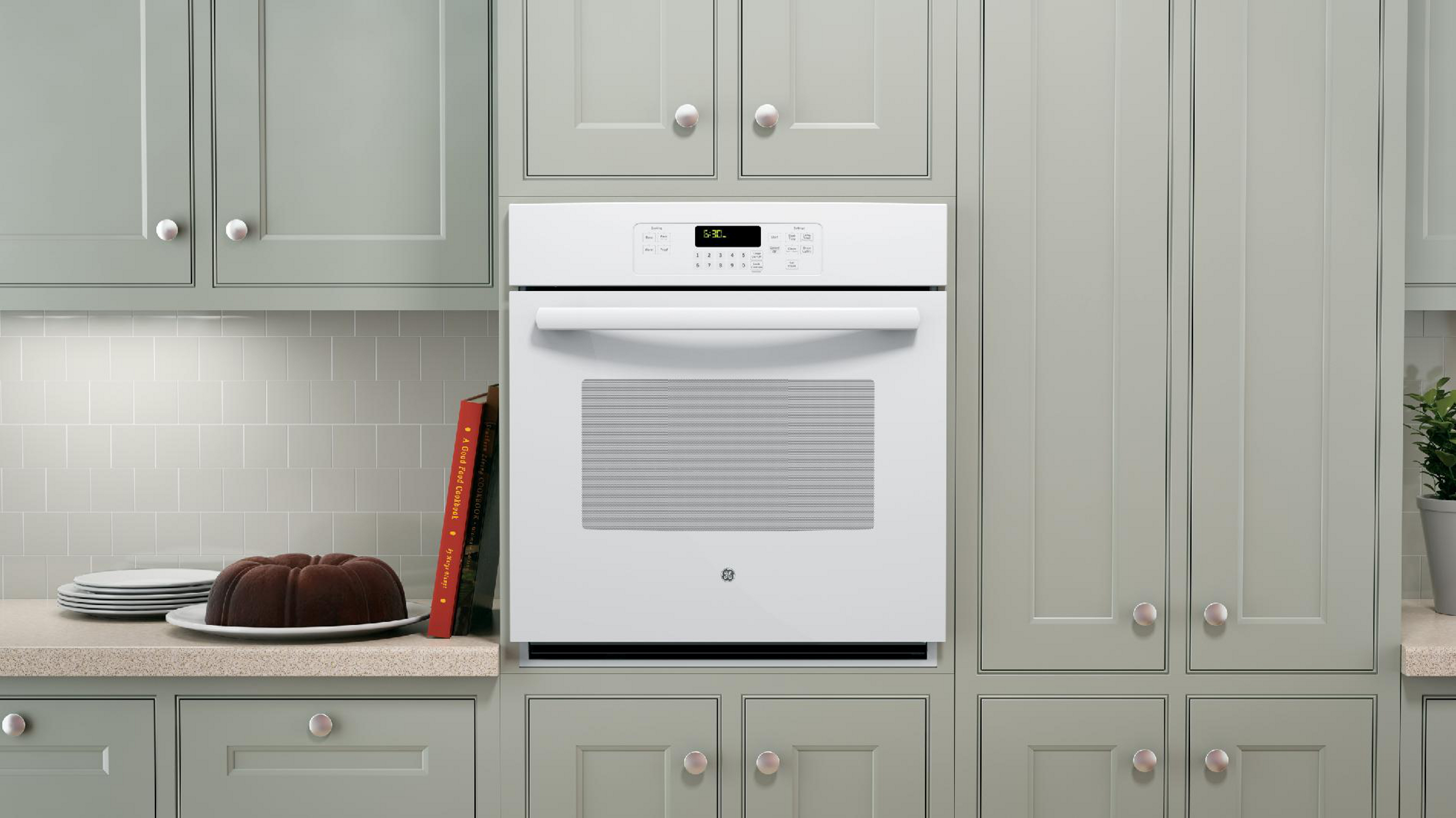"GE Appliances JK3000DFWW 27"" Single Electric Wall Oven - White"