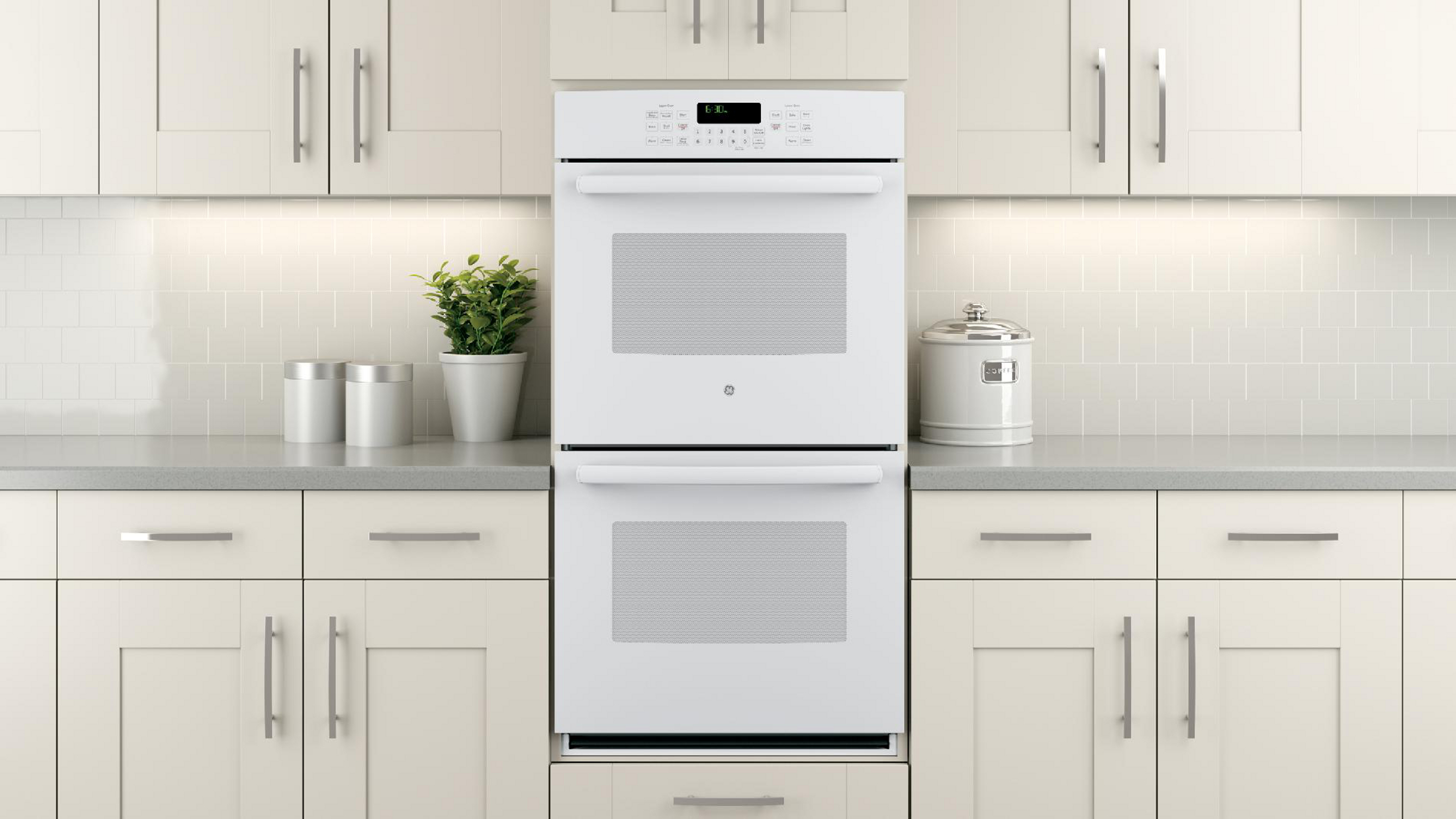 "GE Appliances 27"" Built-In Double Wall Oven w/ True Convection - White"