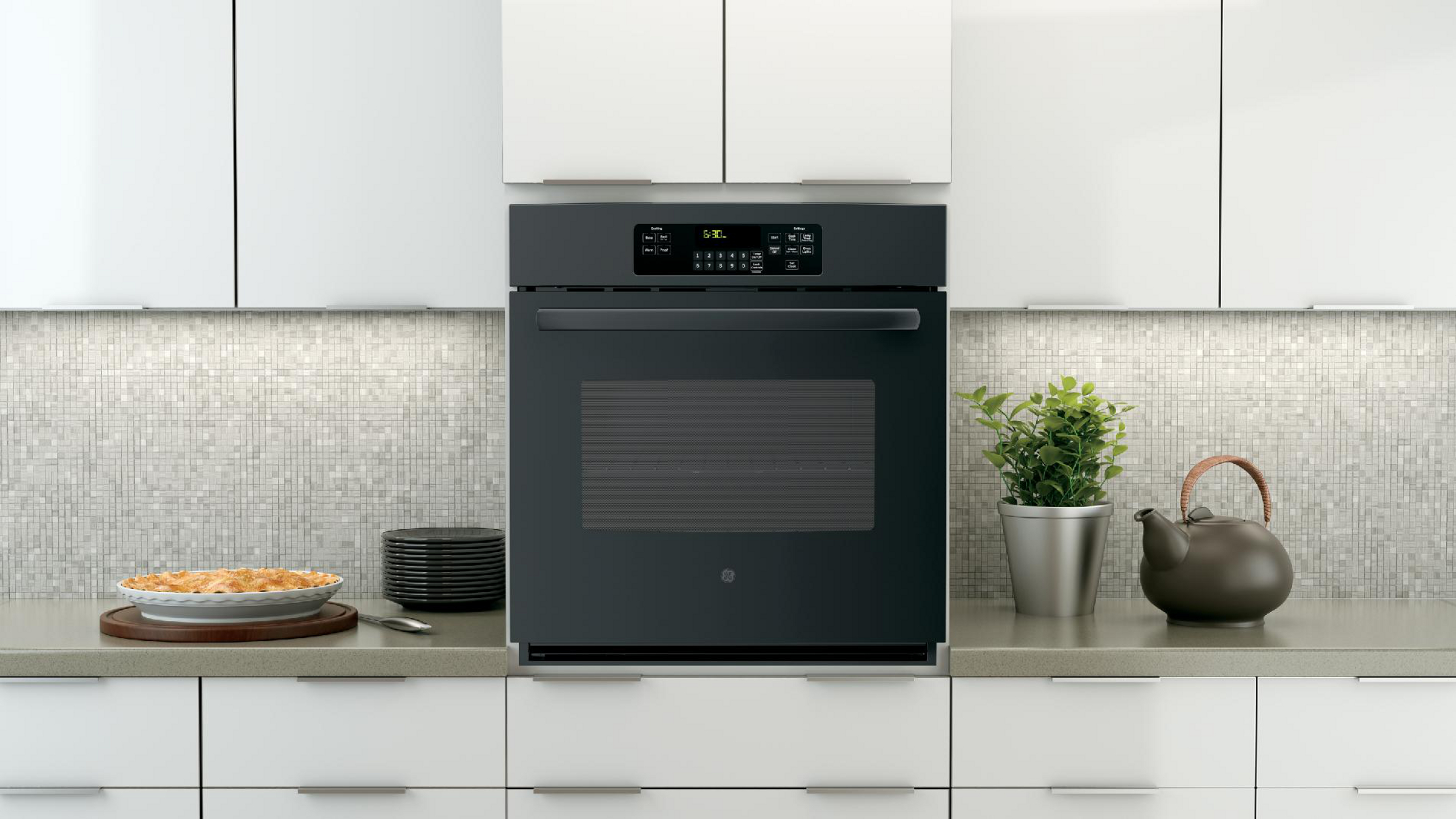 "GE 27"" Electric Single Wall Oven - Black"