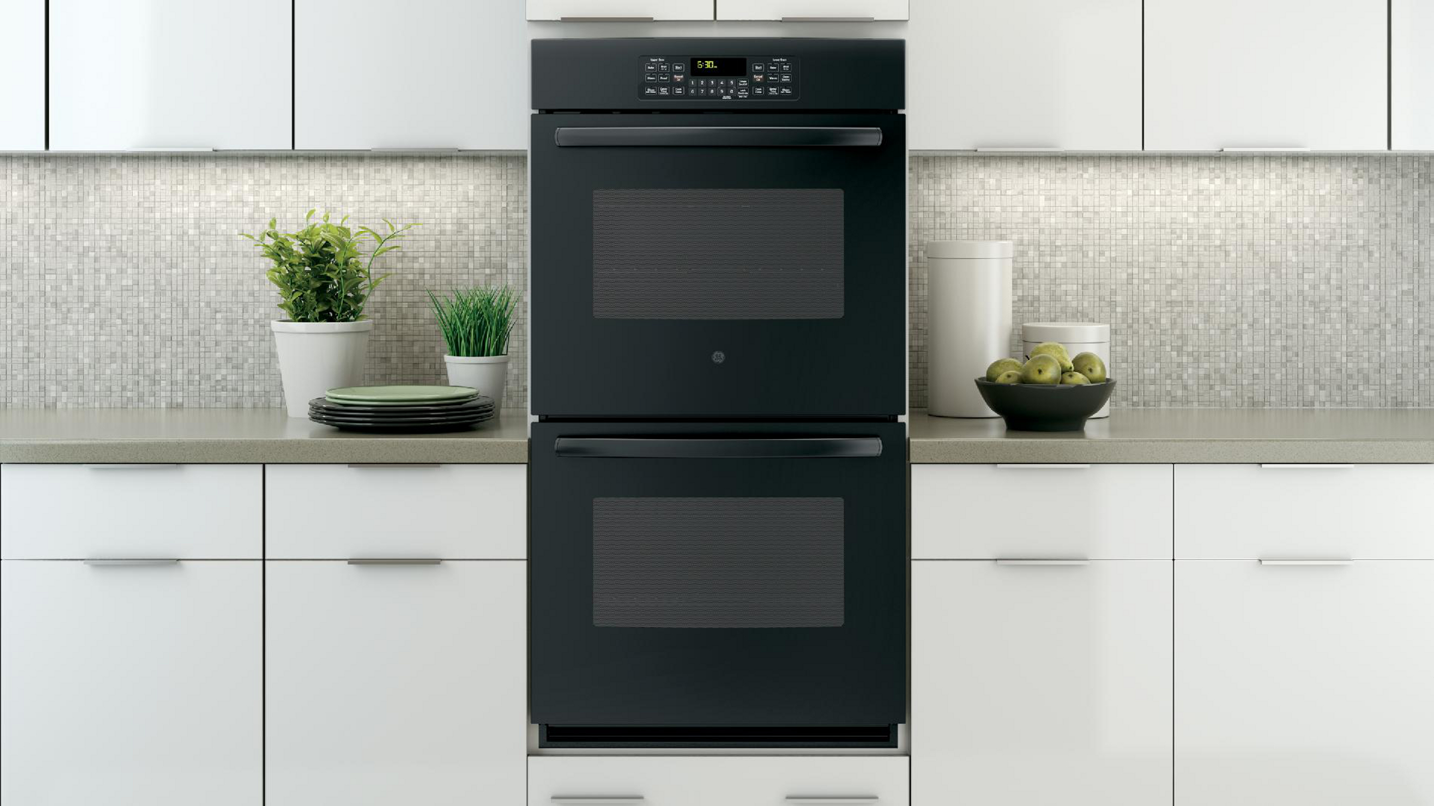 "GE Appliances 27"" Electric Double Wall Oven - Black"