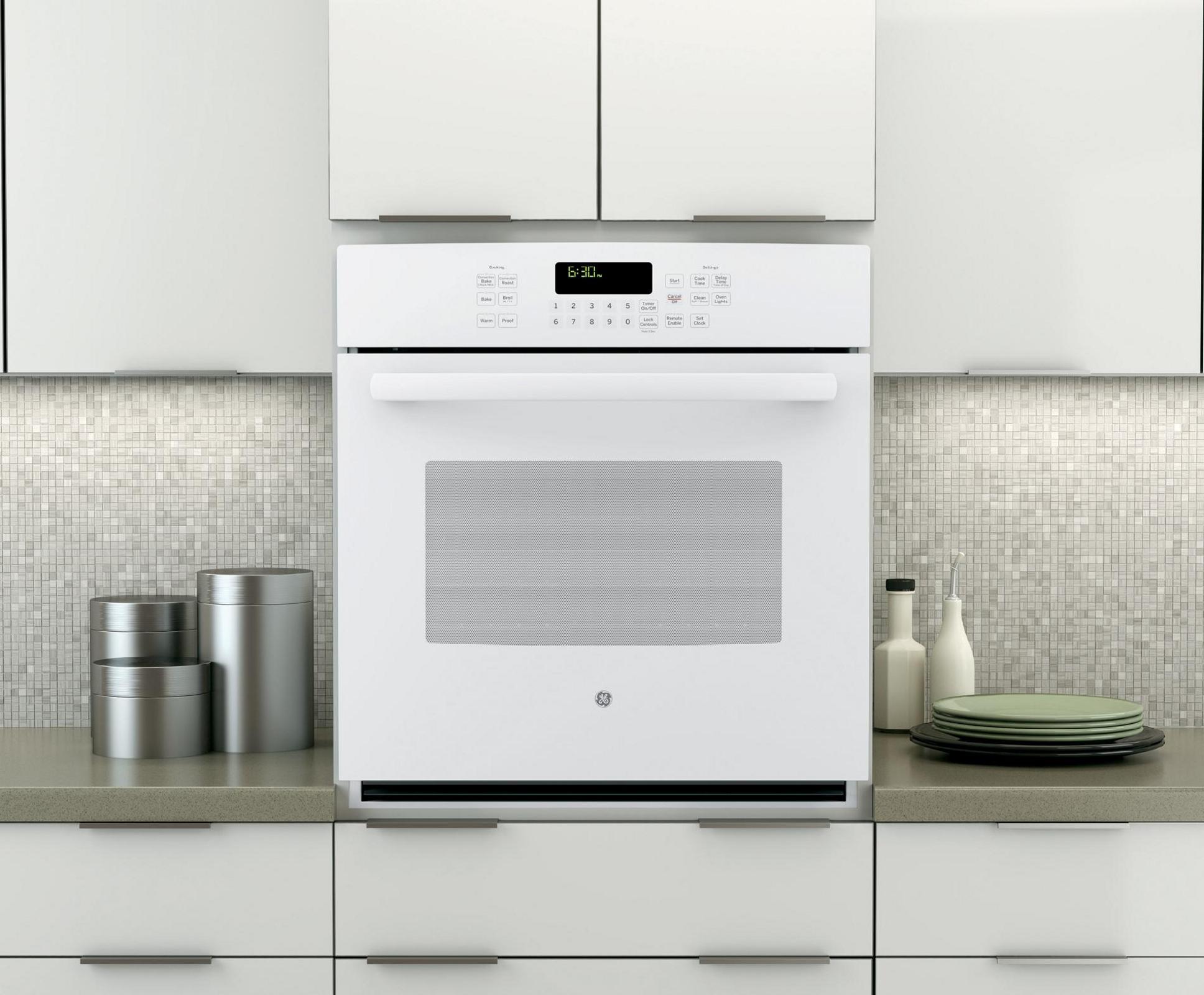 "GE Profile PK7000DFWW 27"" Electric Single Wall Oven w/ True Convection - White"