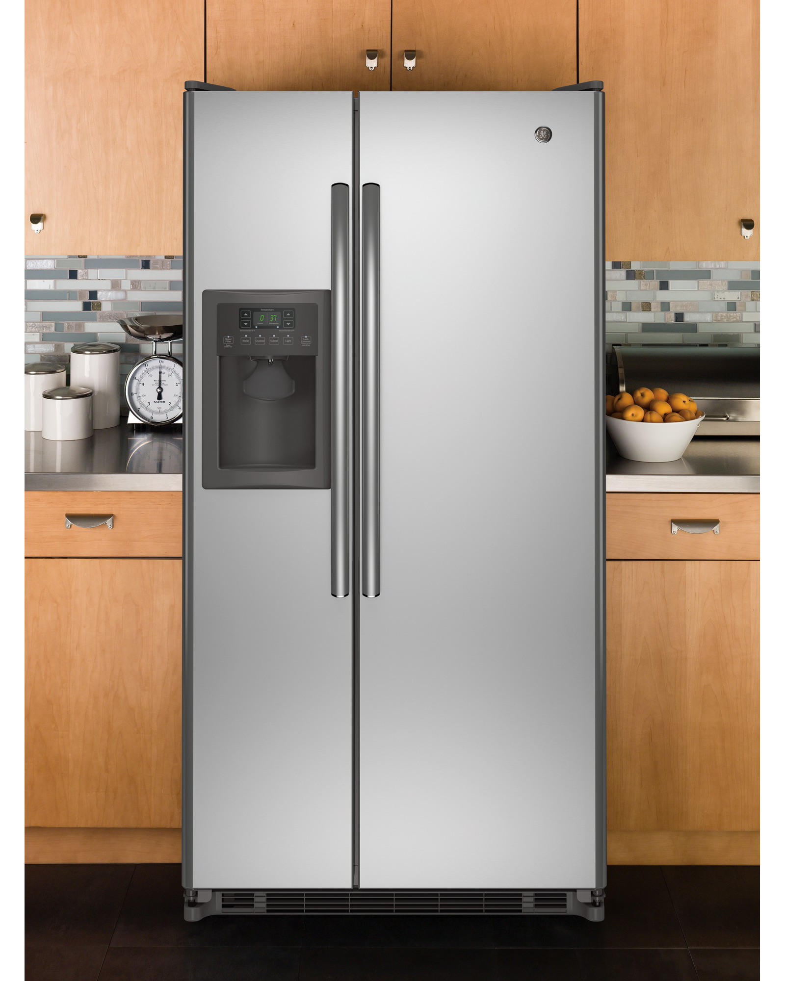 GE Appliances GSE22ESHSS 21.8 cu. ft. Side-by-Side Refrigerator - Stainless Steel