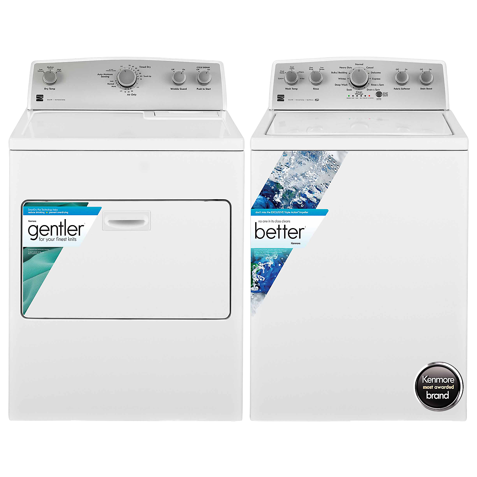 4.3 cu. ft. Top Load Washer and 7.0 cu. ft. Dryer