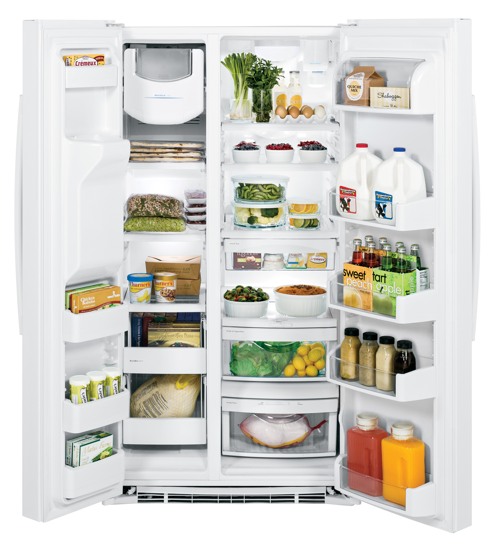 GE Appliances GSE25HGHWW 25.4 cu. ft. Side-By-Side Refrigerator - White