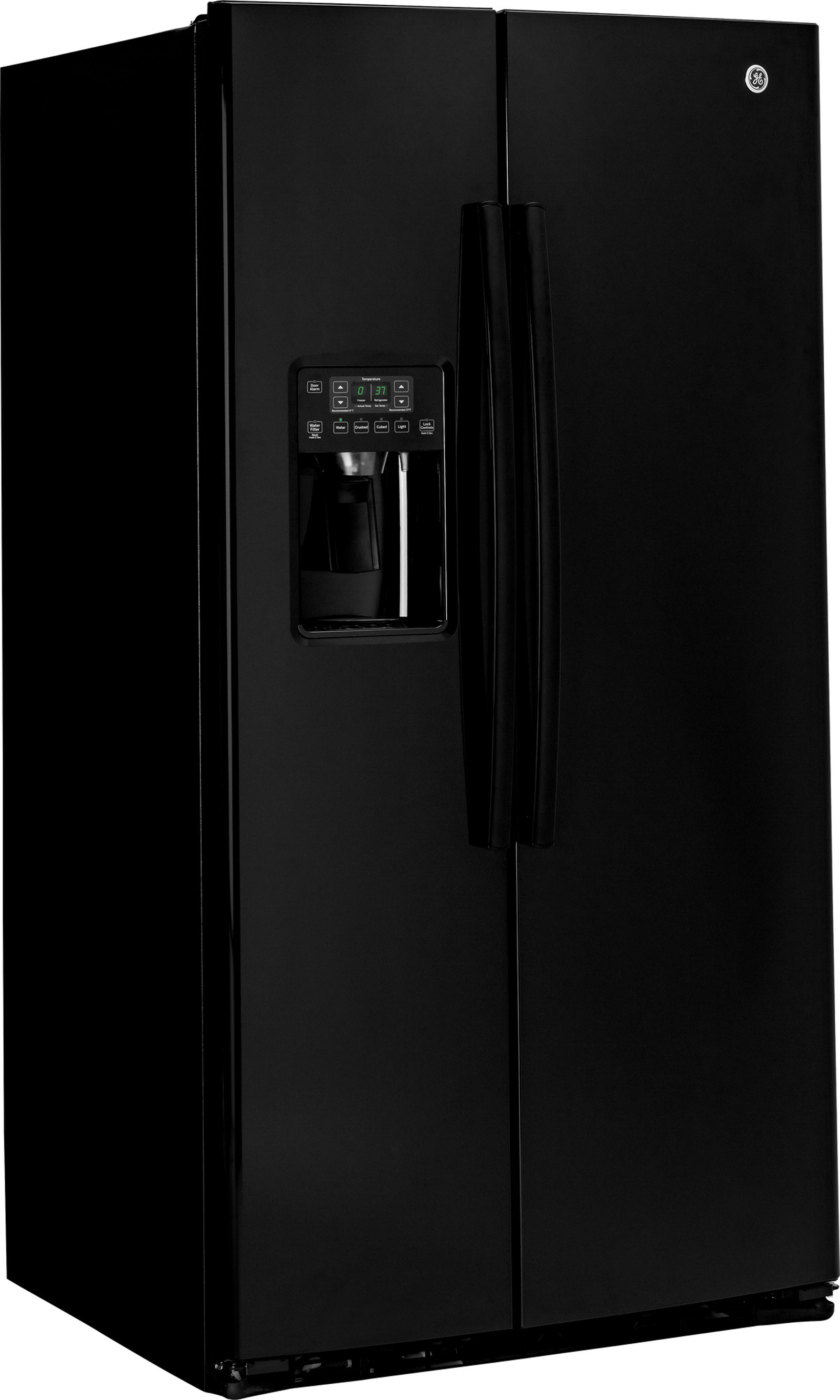 GE Appliances GSE25HGHBB 25.4 cu. ft. Side-By-Side Refrigerator -  Black