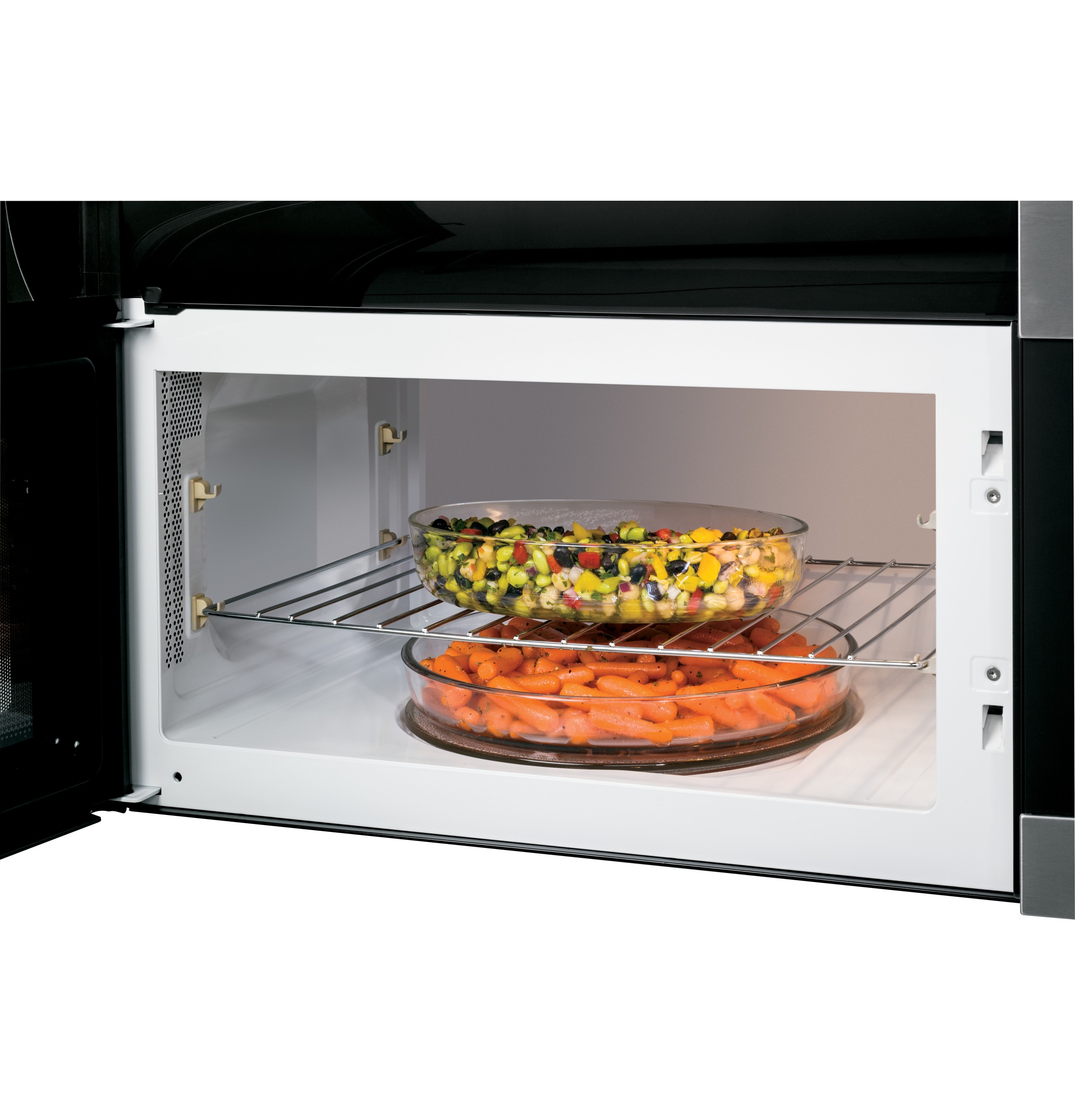 GE Appliances 1.7 Cu. Ft. Over-the-Range Sensor Microwave Oven - Stainless w/ Black Trim