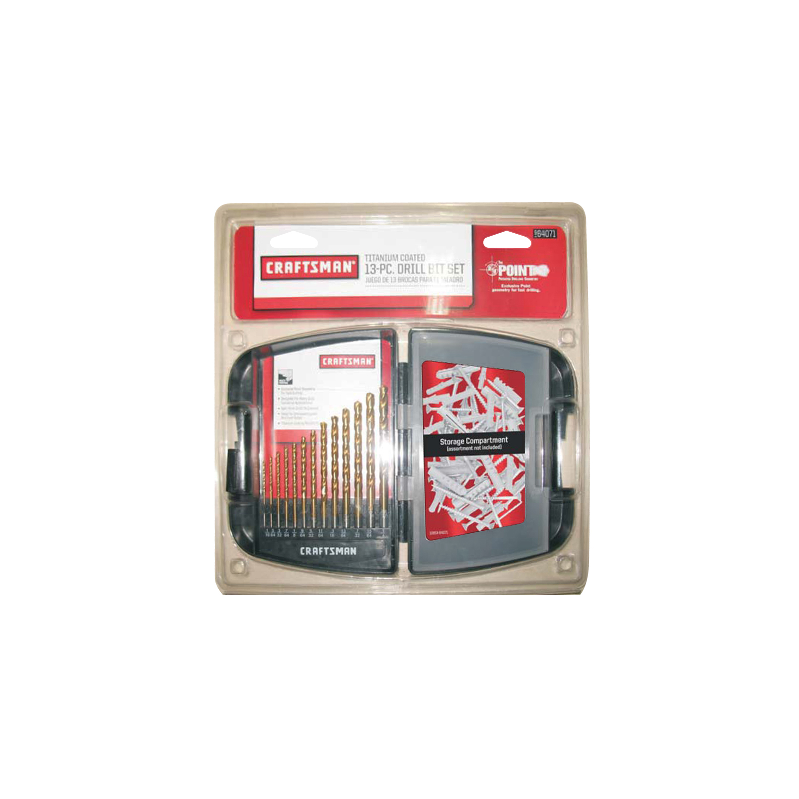 Craftsman 13 pc. Titanium Coated Drill Bit Set
