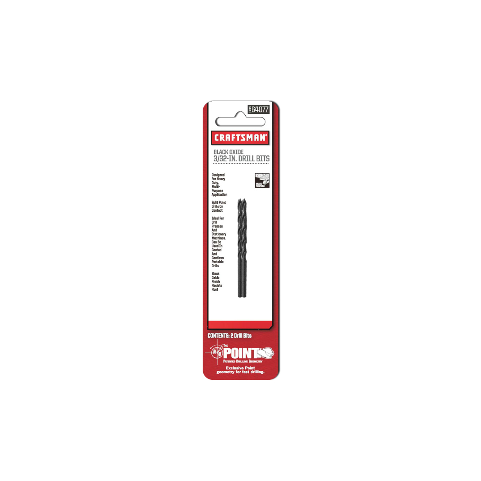 Craftsman 3/32 in. Drill Bits, Black Oxide