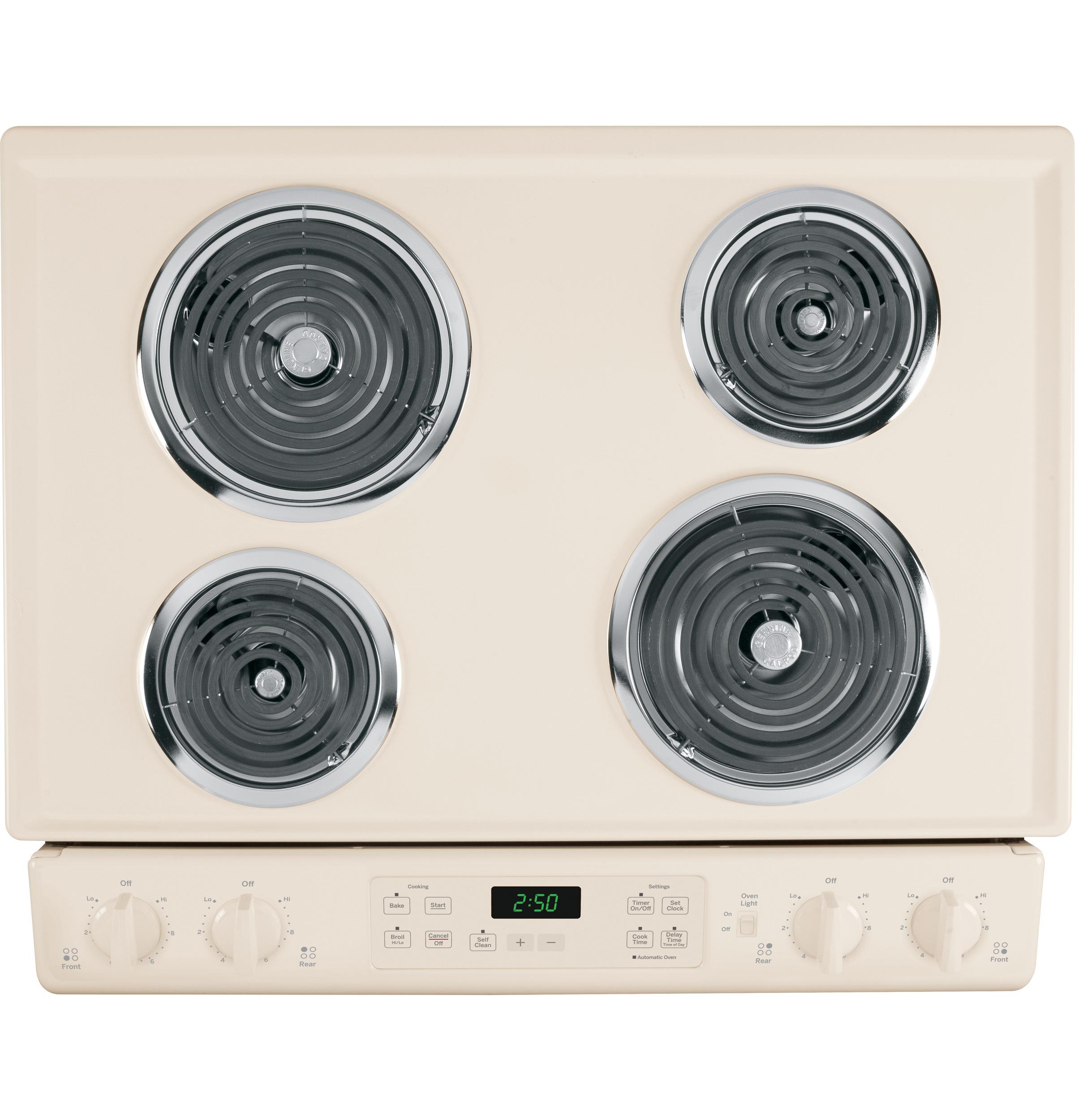 "GE Appliances 30"" Slide-In Electric Range - Bisque"