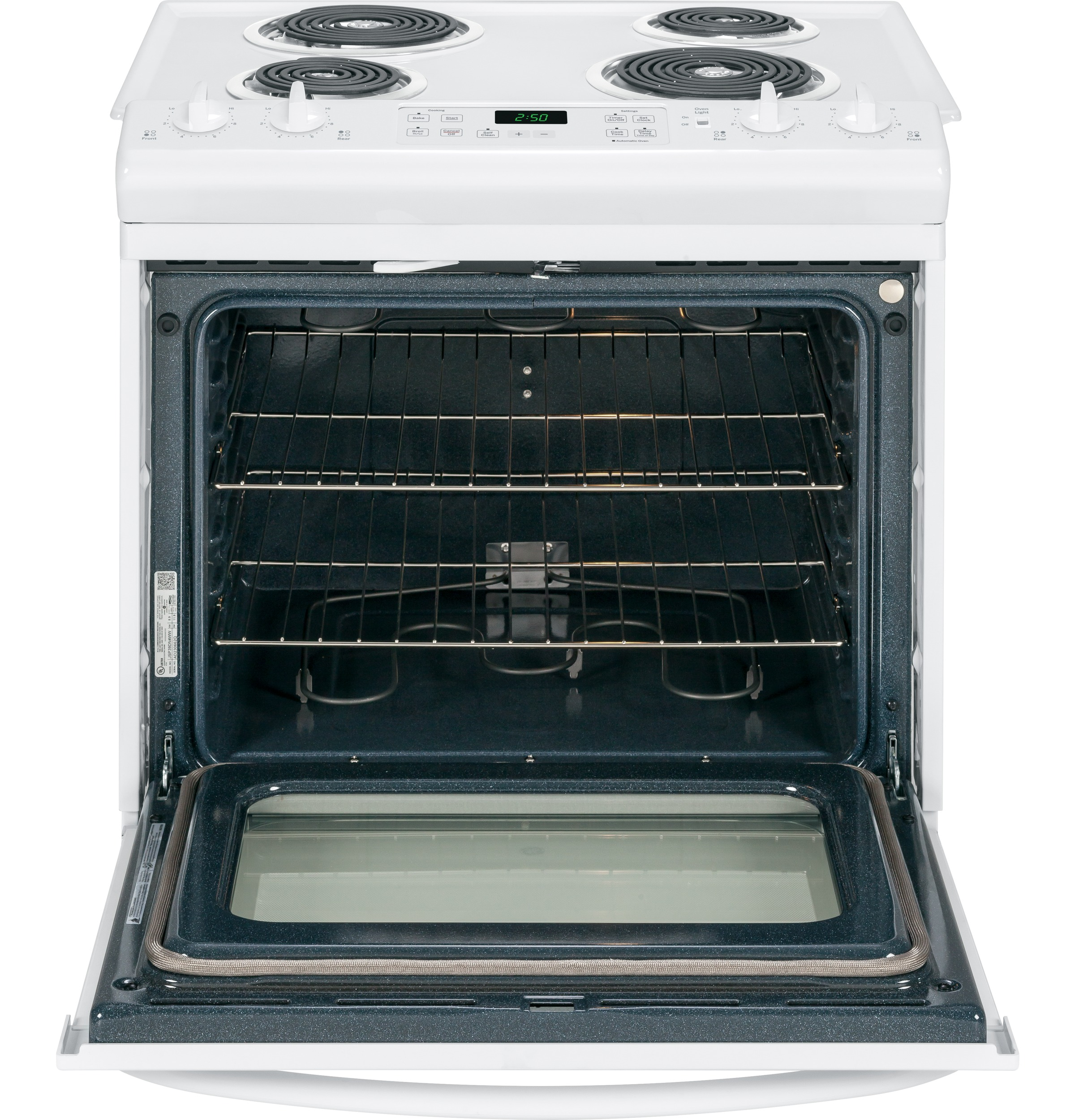 "GE Appliances 30"" Slide-In Electric Range - White"