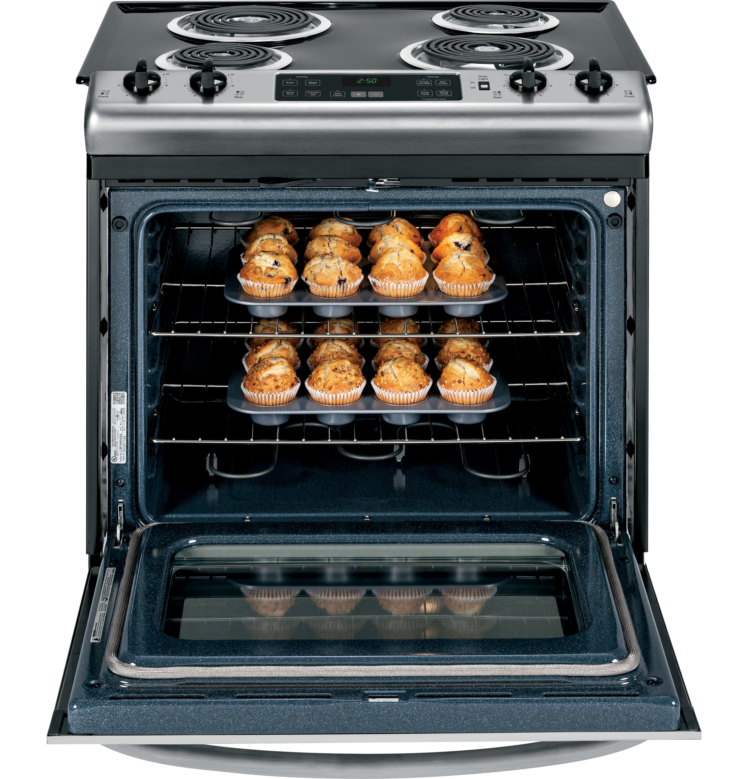 "GE Appliances 30"" Slide-In Electric Range - Stainless Steel"