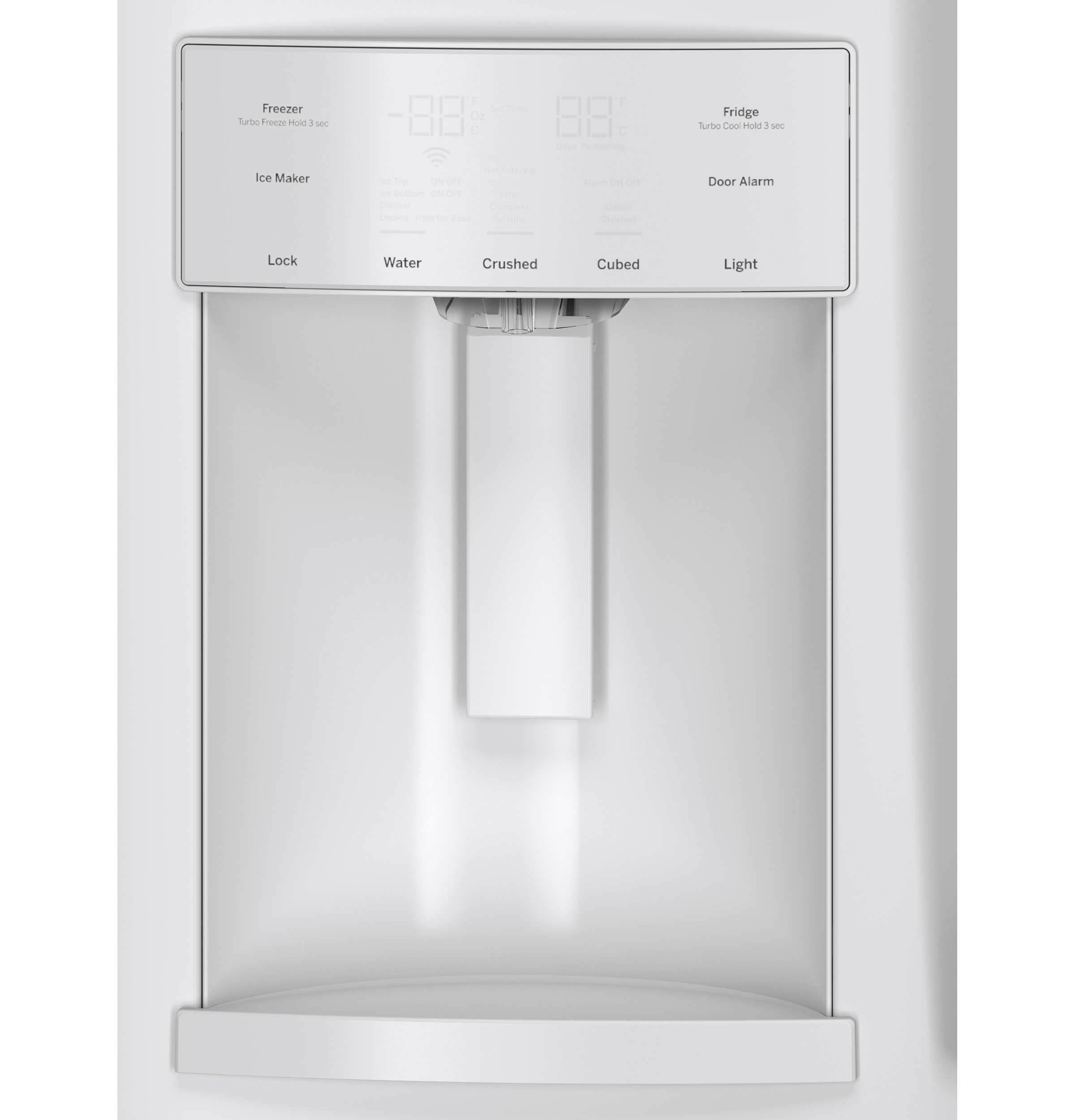 GE Appliances GFE28HGHWW 27.7 cu. ft. French-Door Ice and Water Refrigerator - White