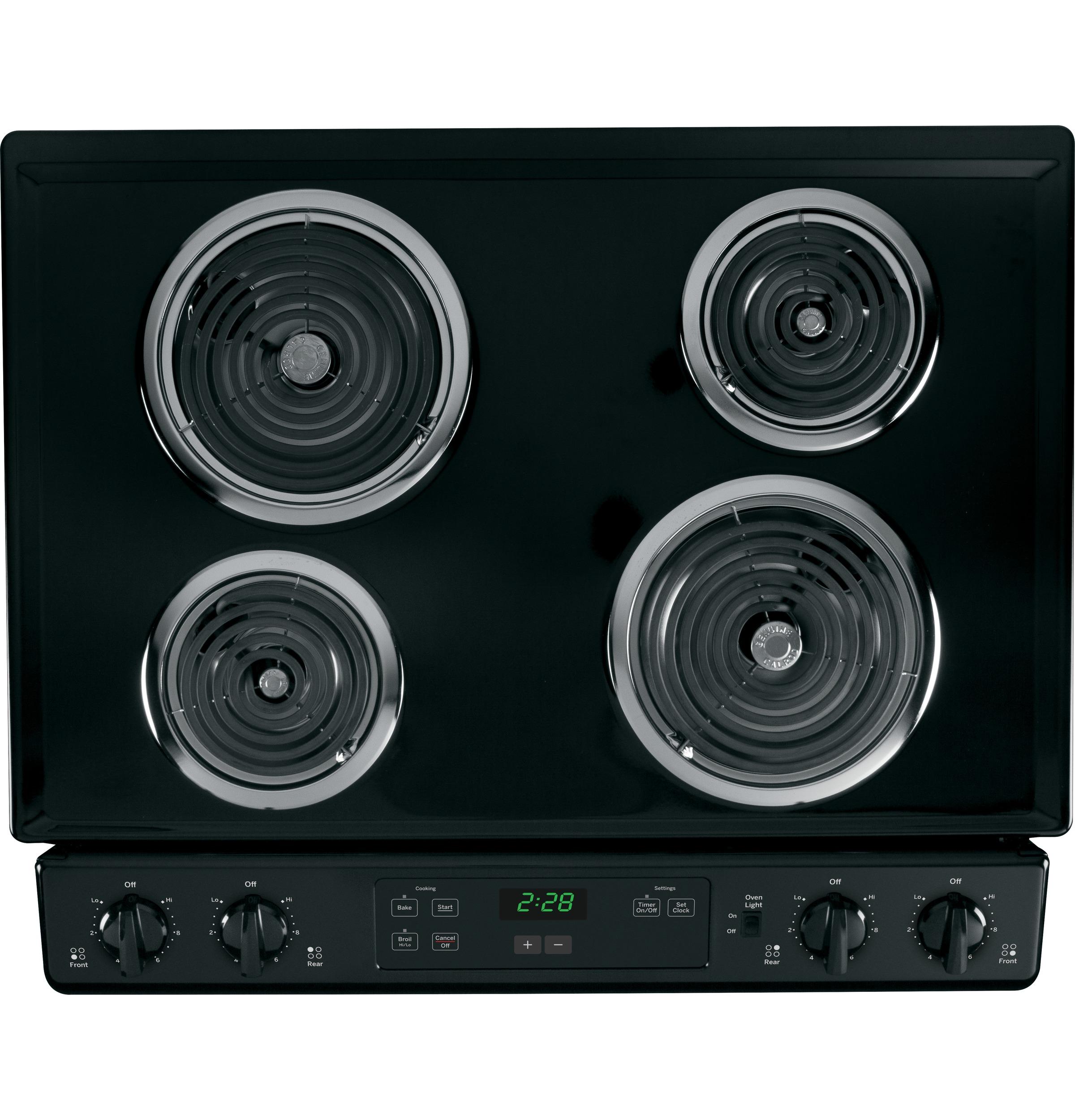 "GE Appliances 30"" Slide-In Electric Range - Black"