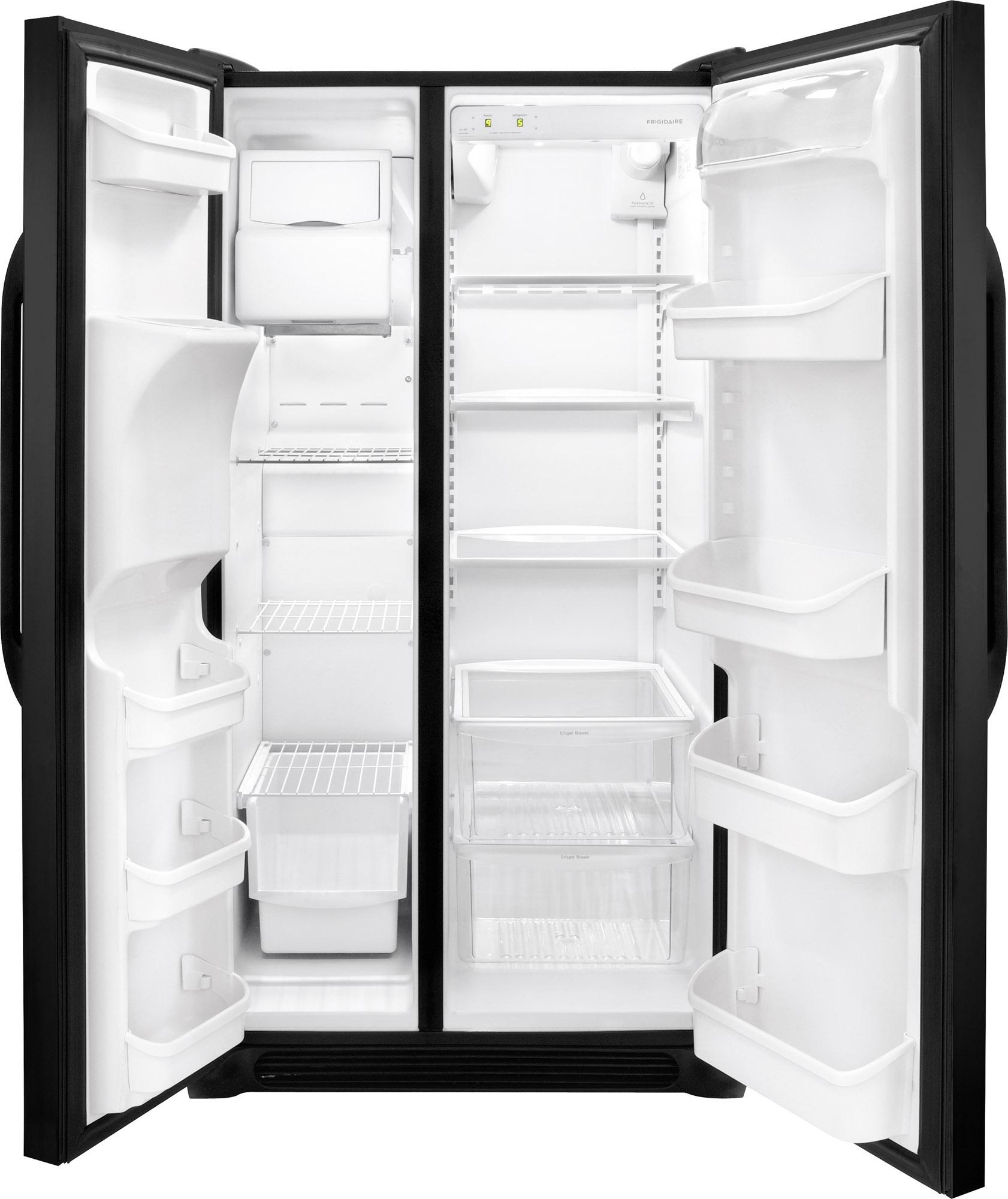 Frigidaire FFSS2614QE 25.5 cu. ft. Side-by-Side Refrigerator - Black