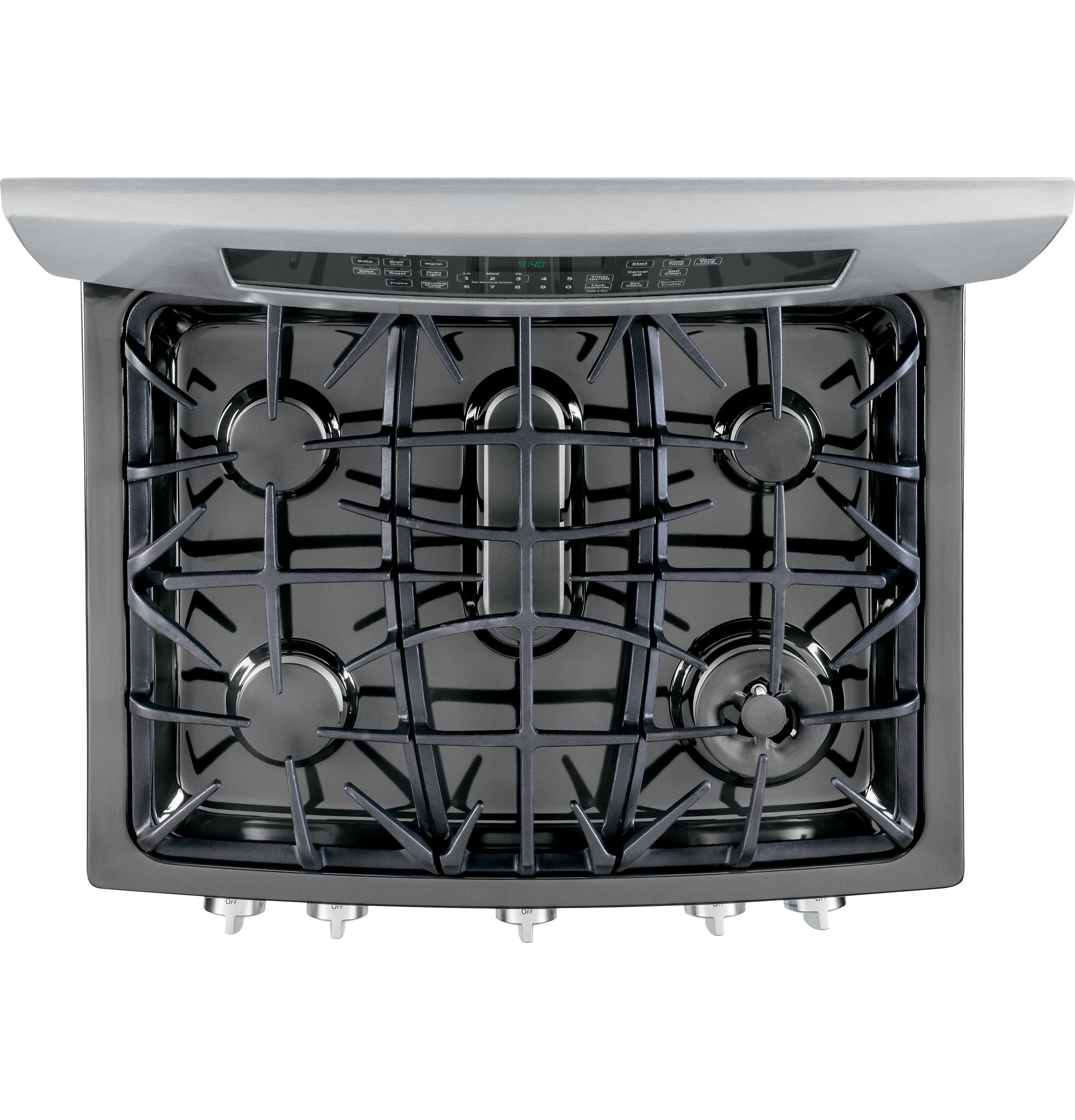GE Profile 5.6 cu. ft. Dual-Fuel Freestanding Range w/ Warming Drawer - Stainless Steel