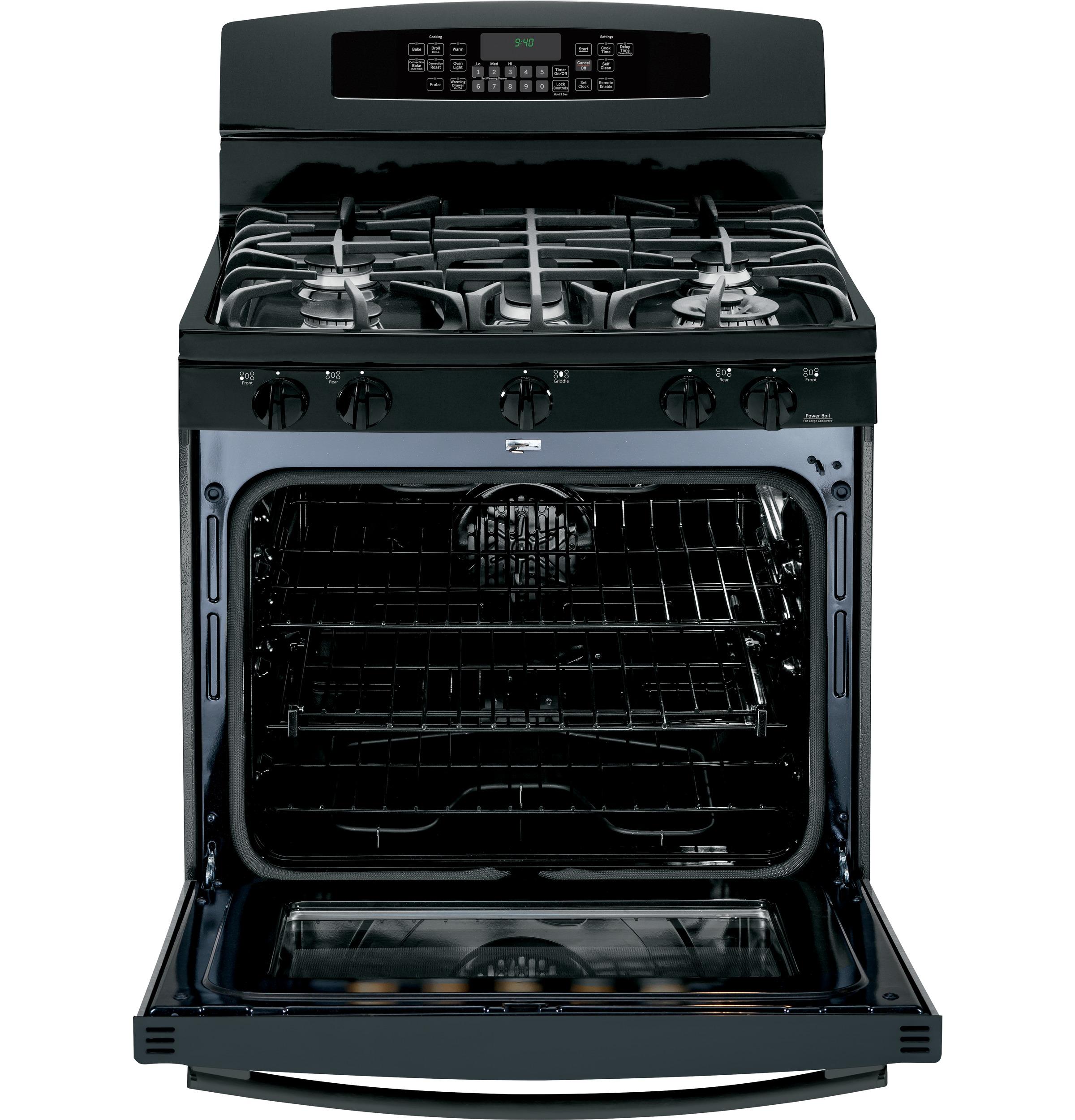 GE Profile 5.6 cu. ft. Dual-Fuel Freestanding Range w/ Warming Drawer - Black