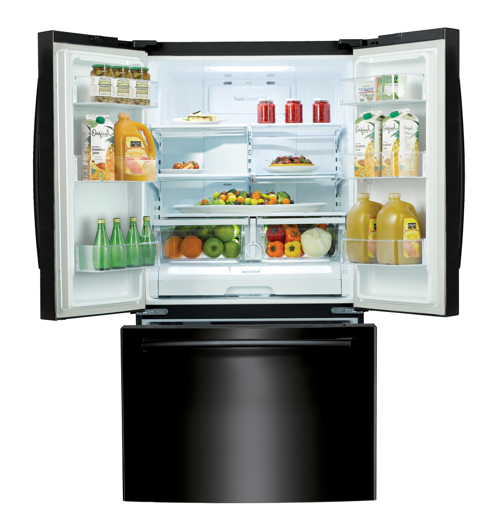 Samsung 26 cu.ft. French Door Refrigerator w/ Internal Filtered Water Dispenser - Black