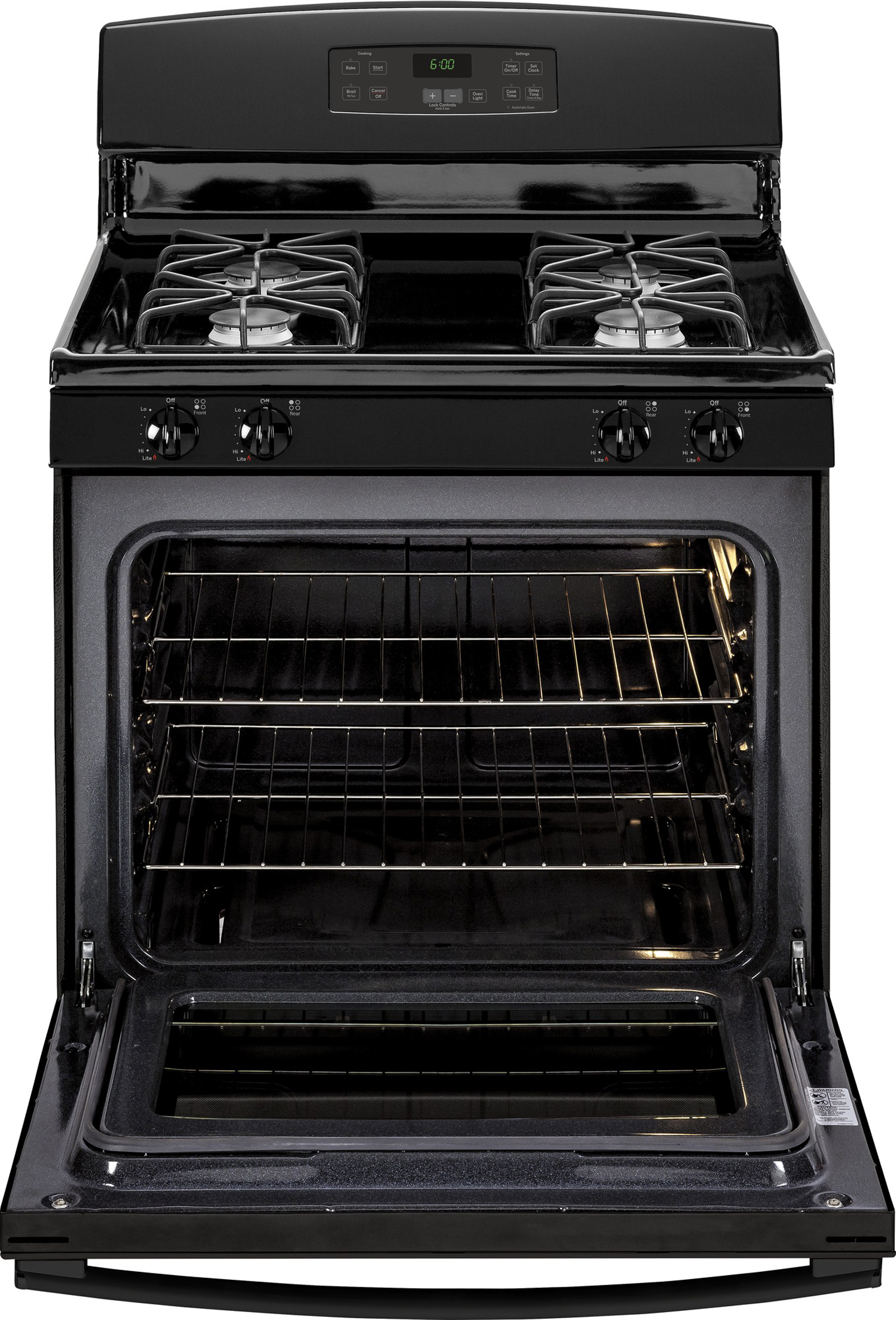 GE Appliances JGBS60DEFBB 4.8 cu. ft. Gas Range - Black
