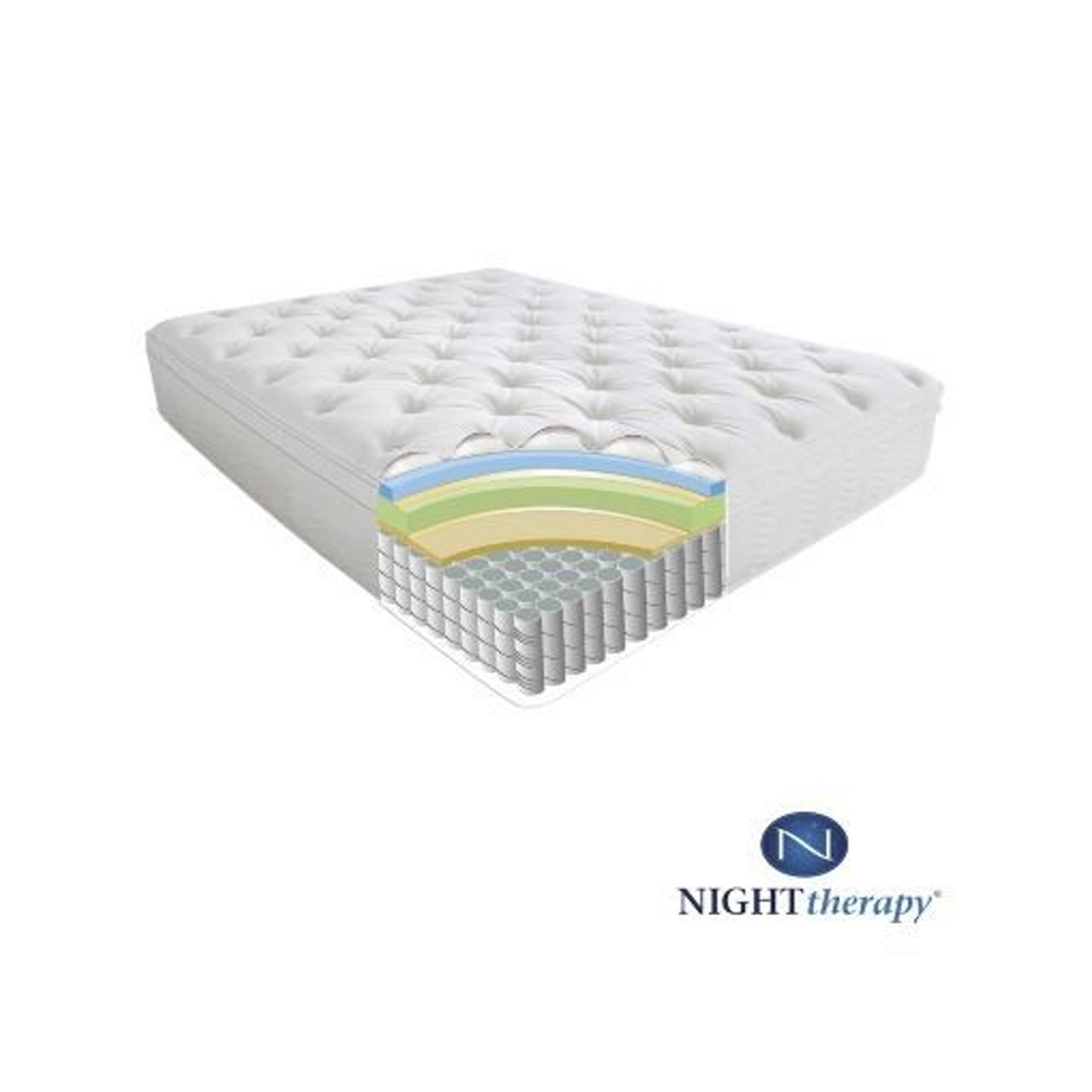 Night Therapy 12 Inch Spring Queen Mattress Only