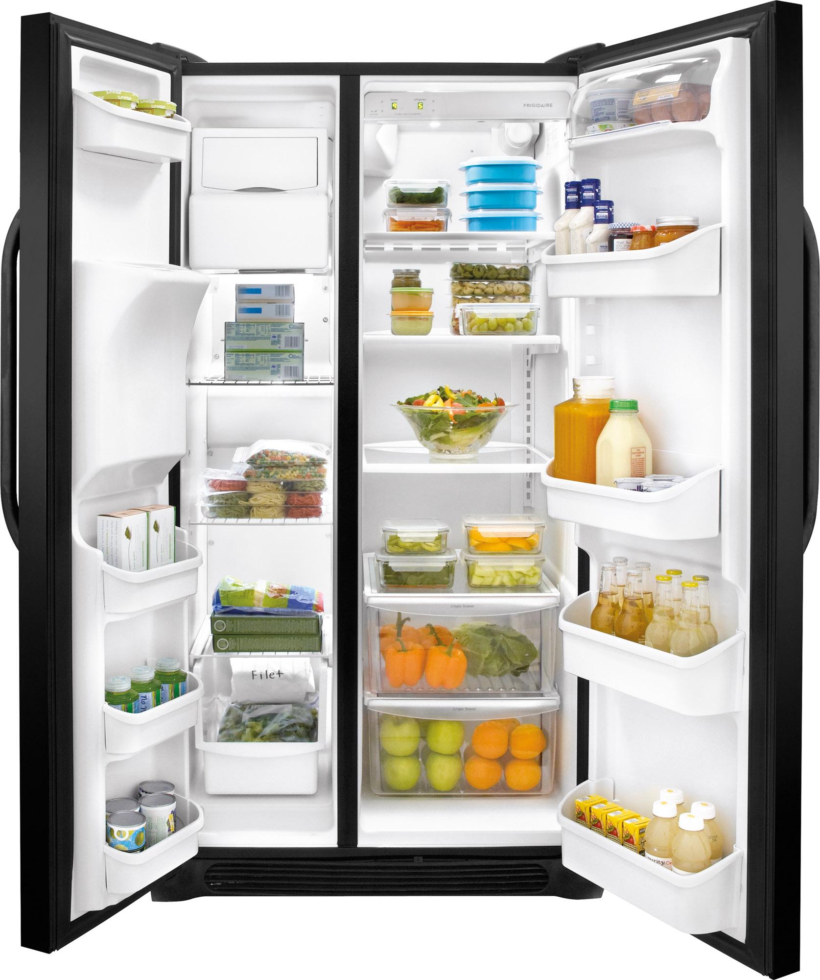 Frigidaire FFSS2314QE 22 cu. ft. Side-by-Side Refrigerator - Black