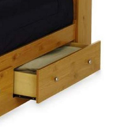essential home belmont mates twin bed - honey pine