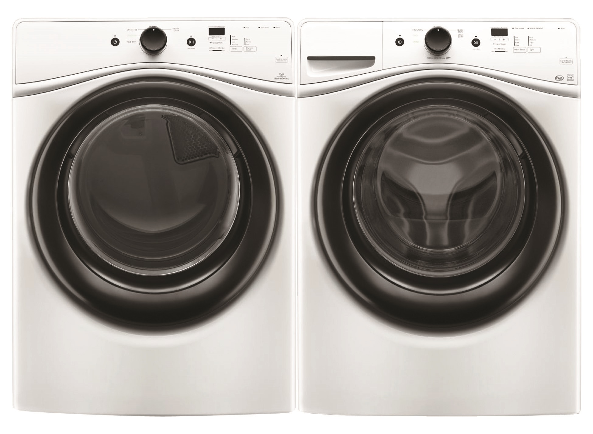Amana NFW5700BW 4.1 cu. ft. Front Load Washer +.4 cu. ft. Front Load Electric Dryer