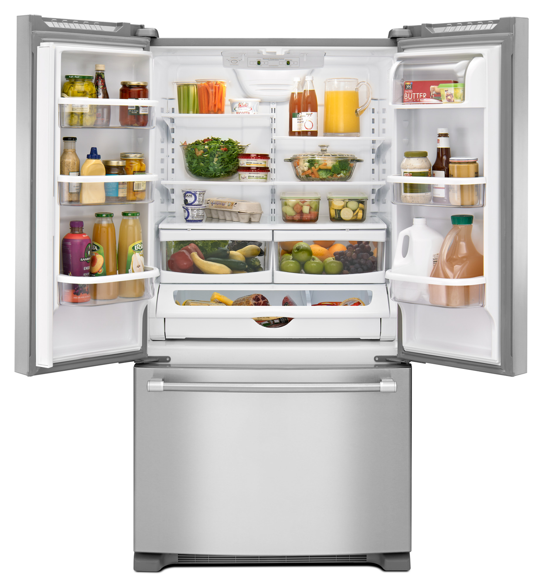 Maytag MFF2258DEM 22 cu. ft. French Door Refrigerator w/ Strongbox™ Hinges - Stainless Steel