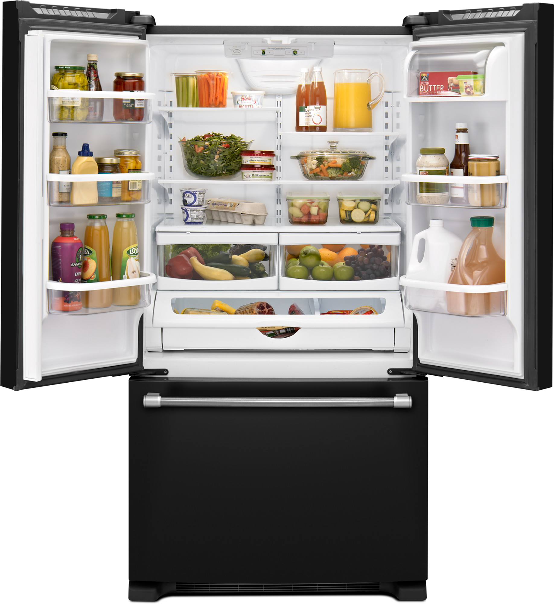 Maytag MFF2258DEE 22 cu. ft. French Door Refrigerator w/ Strongbox™ Hinges - Black