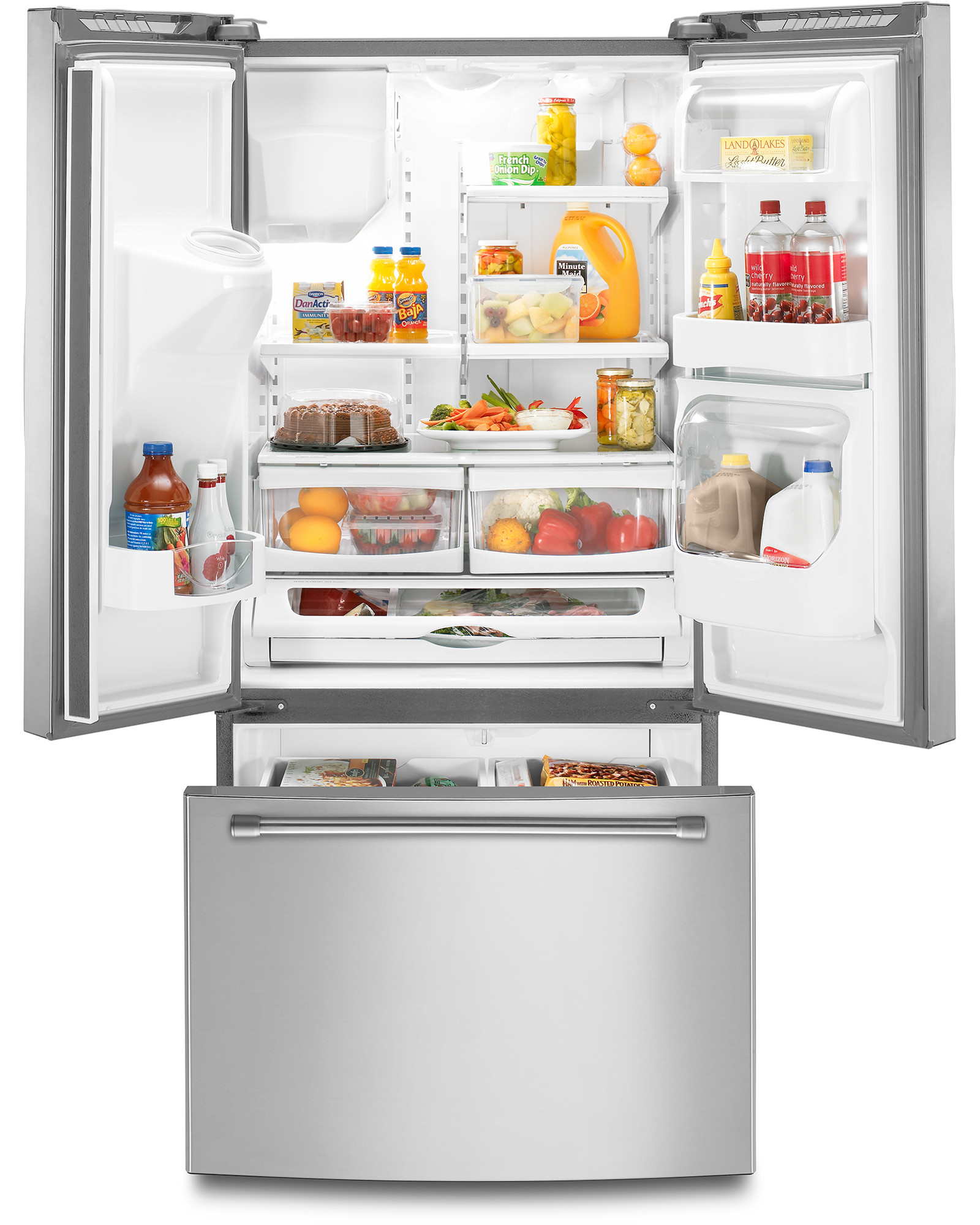 Maytag MFI2269DRM 22 cu. ft. French Door Refrigerator w/ Wide-N-Fresh™ Deli Drawer - Stainless Steel