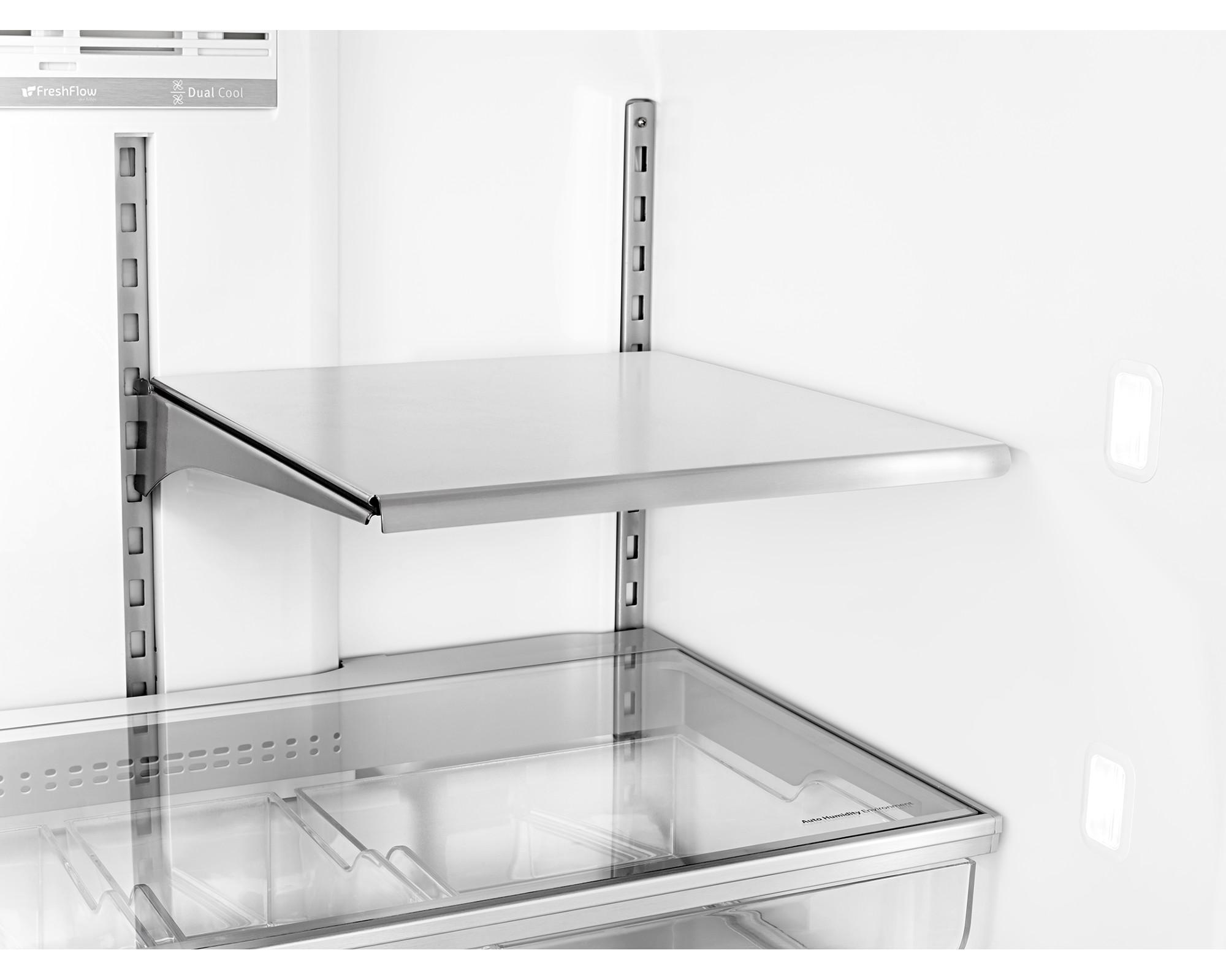 Maytag MFX2876DRE 26 cu. ft. 4-Door French Door Bottom Freezer Refrigerator w/ Steel Shelves - Black