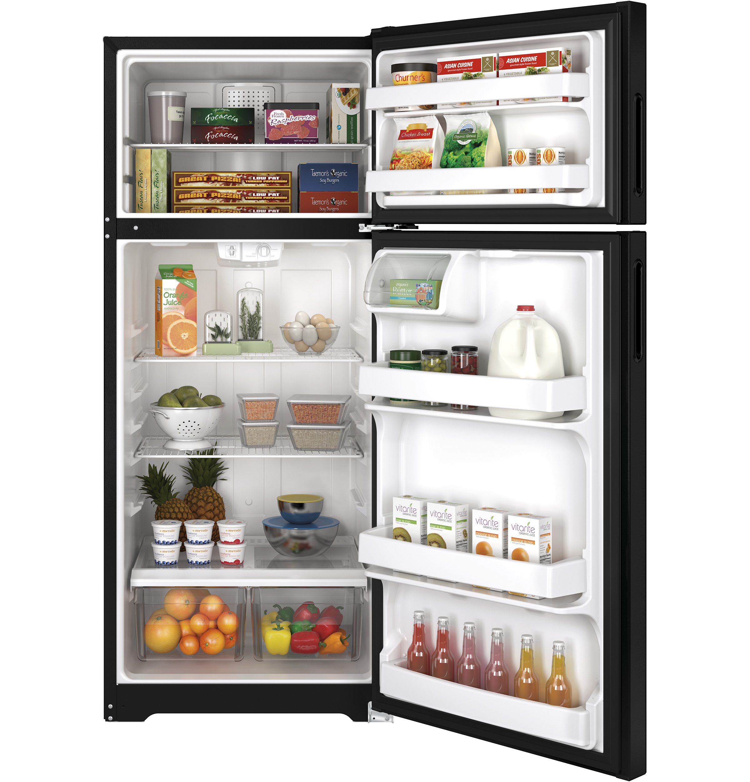 Hotpoint HPS18BTHBB 17.6 cu. ft. Top-Freezer Refrigerator - Black