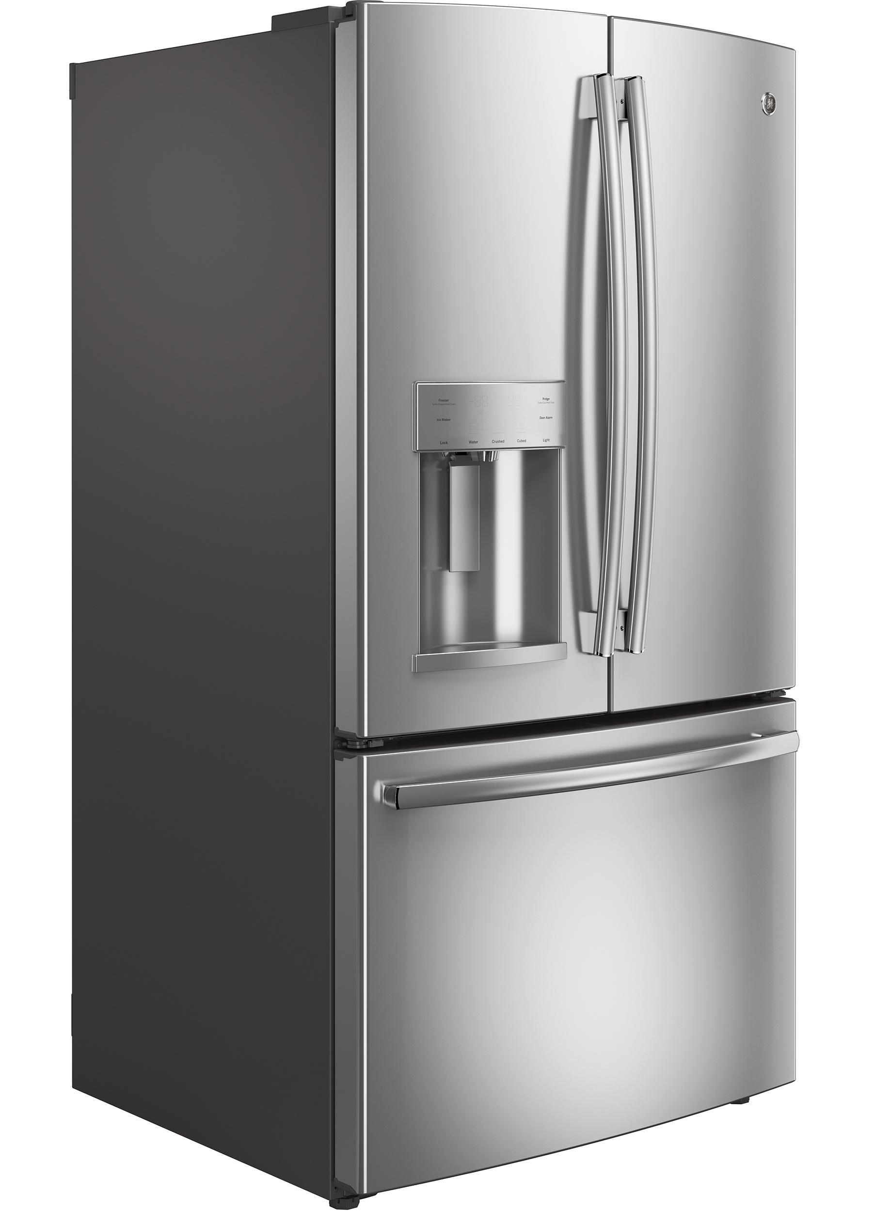 GE Appliances GYE22KSHSS 22.1 cu. ft. Counter-Depth French-Door Refrigerator - Stainless Steel
