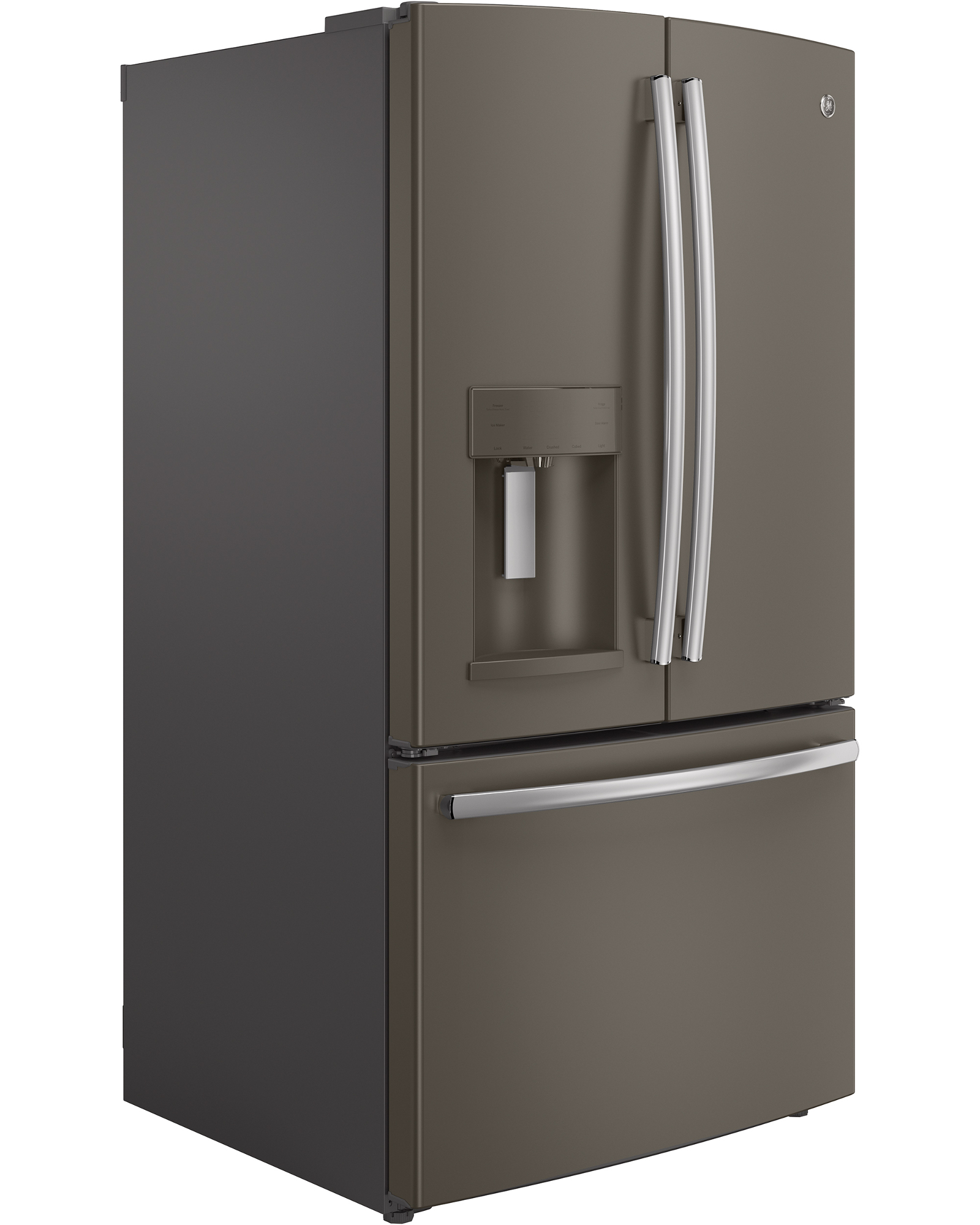 GE Appliances GFE26GMHES 25.7 cu. ft. French-Door Ice and Water Refrigerator - Slate