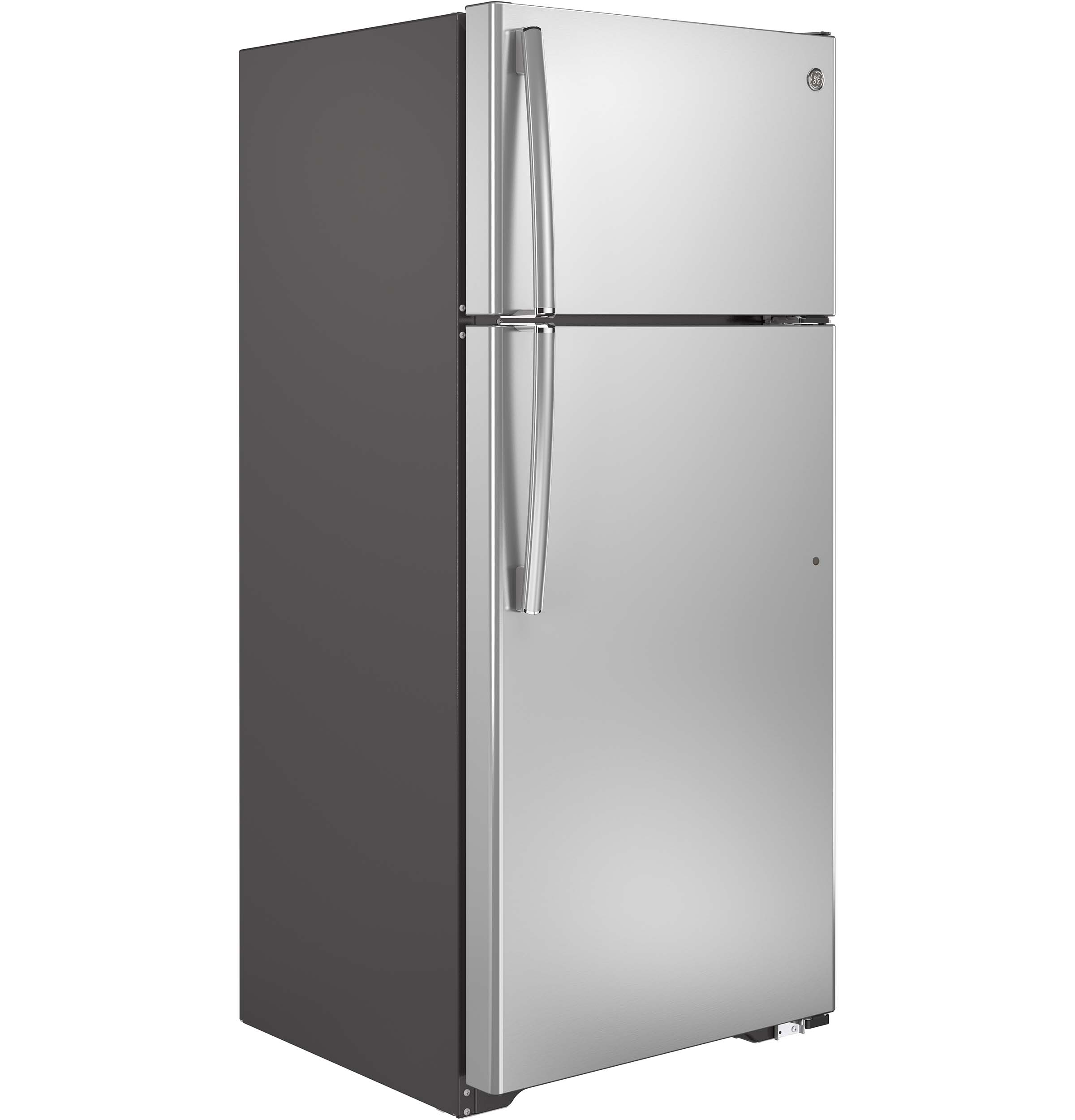 GE Appliances GTS18GSHSS 17.5 cu. ft. Top-Freezer Refrigerator- Stainless Steel