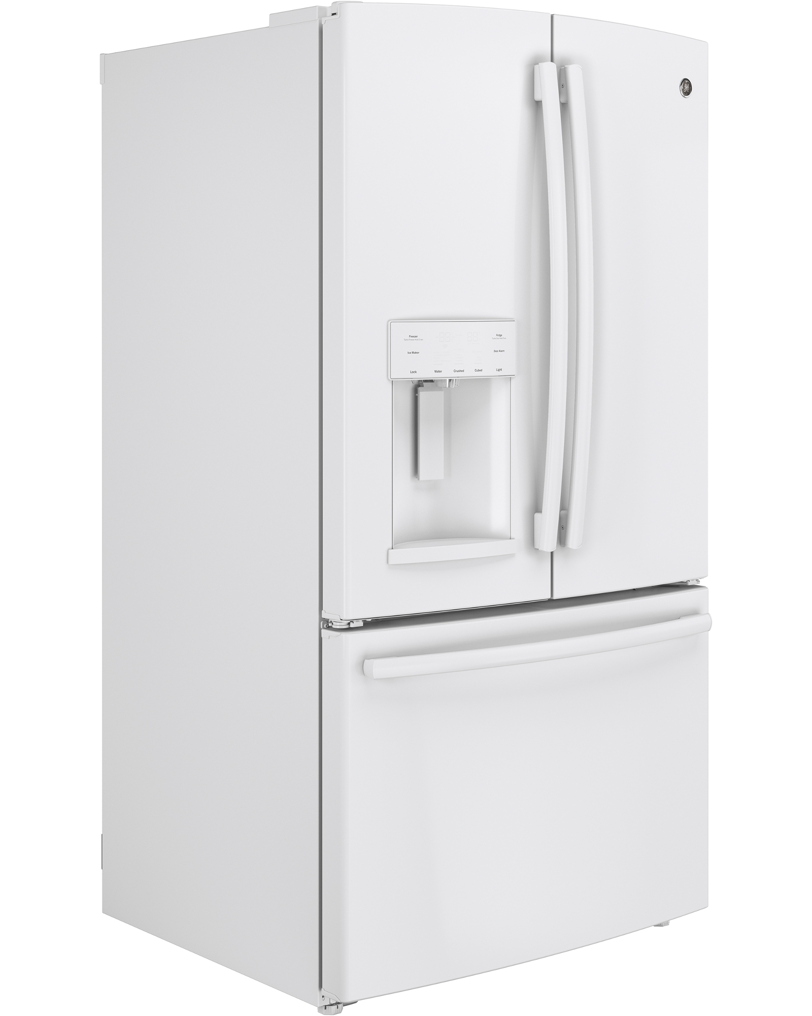 GE Appliances GFE26GGHWW 25.7 cu. ft. French-Door Ice and Water Refrigerator - White
