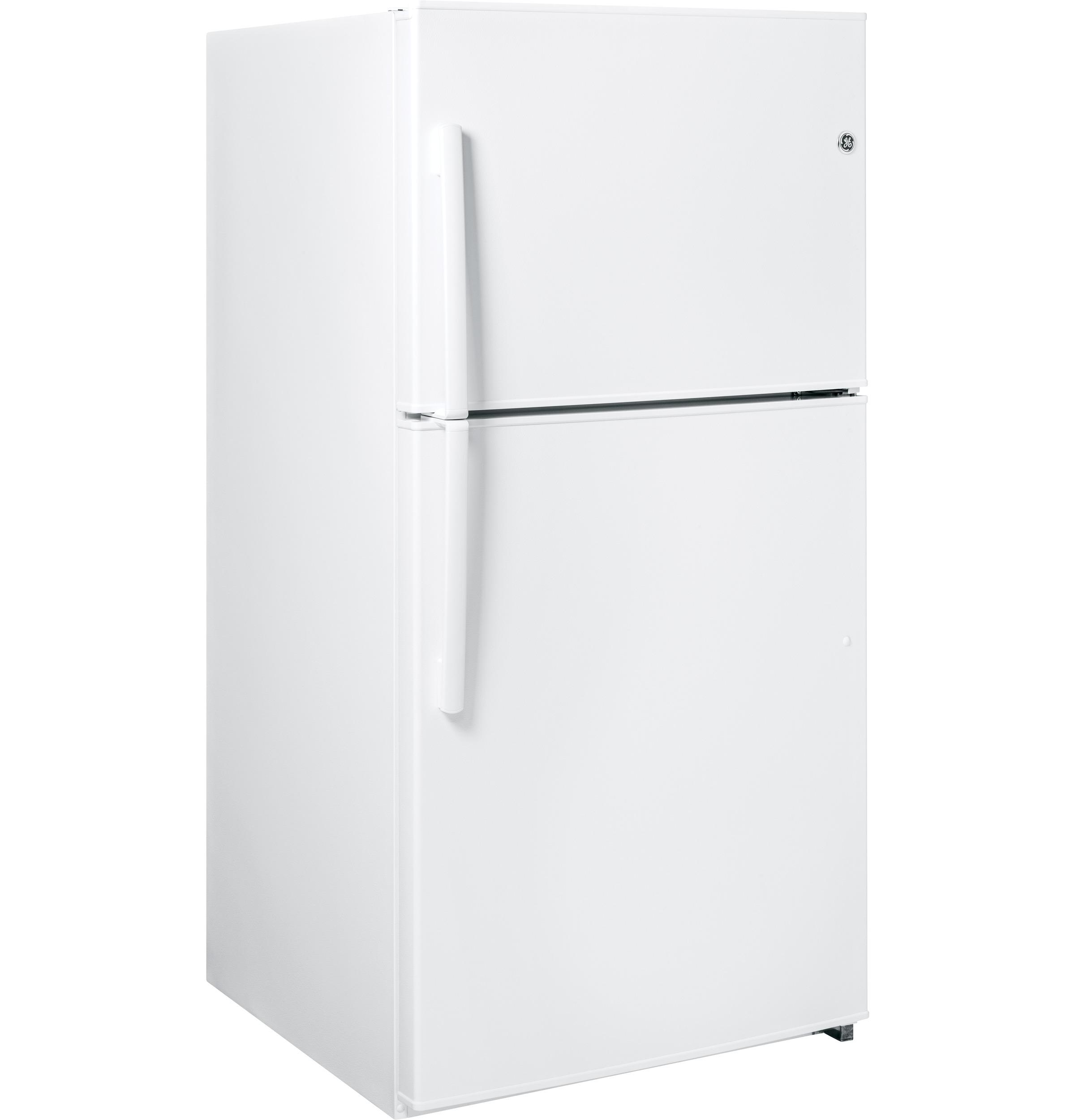 GE Appliances 21.2 cu. ft. Top-Freezer Refrigerator - White