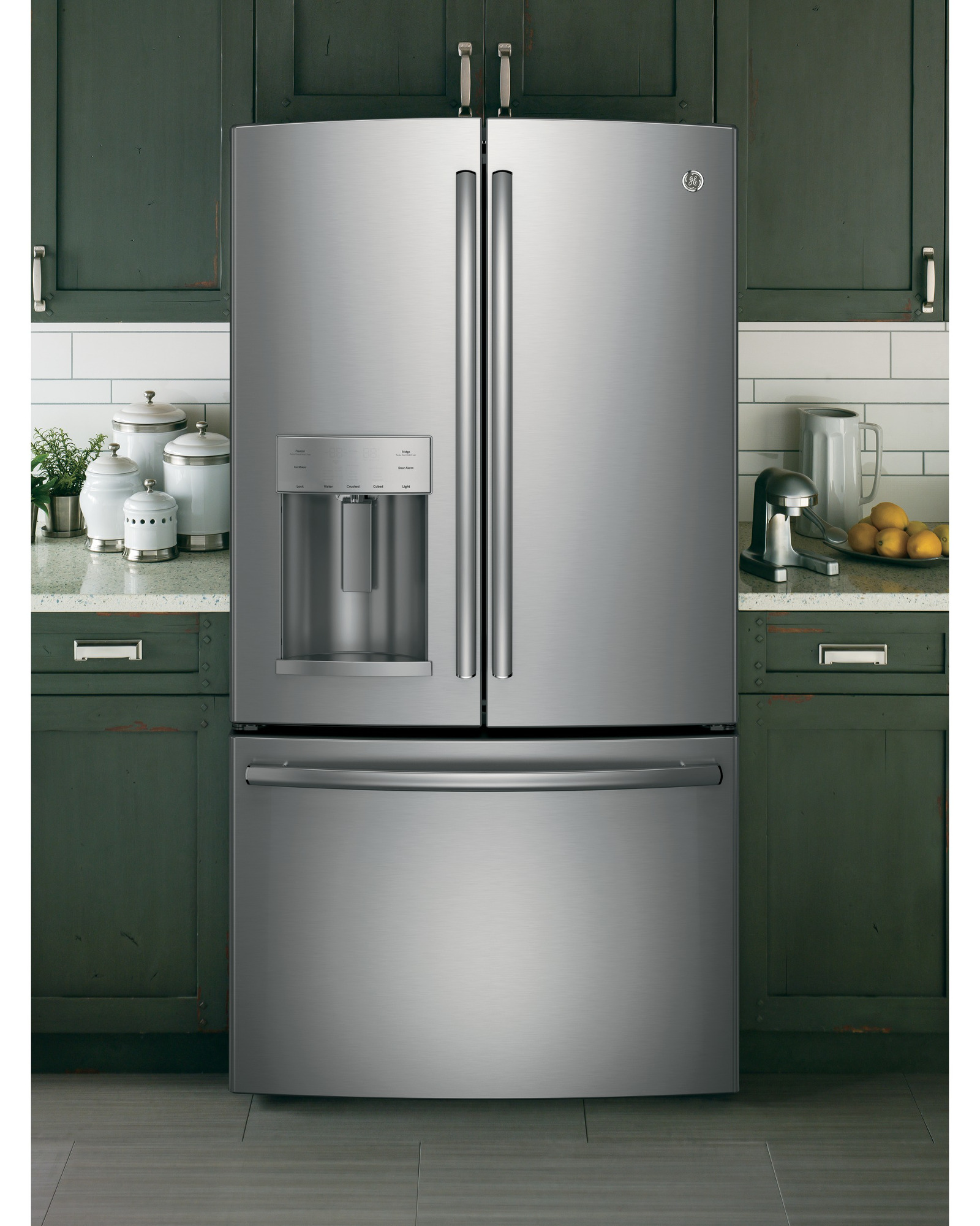 GE Appliances GFE26GSHSS 25.7 cu. ft. French-Door Ice and Water Refrigerator - Stainless Steel