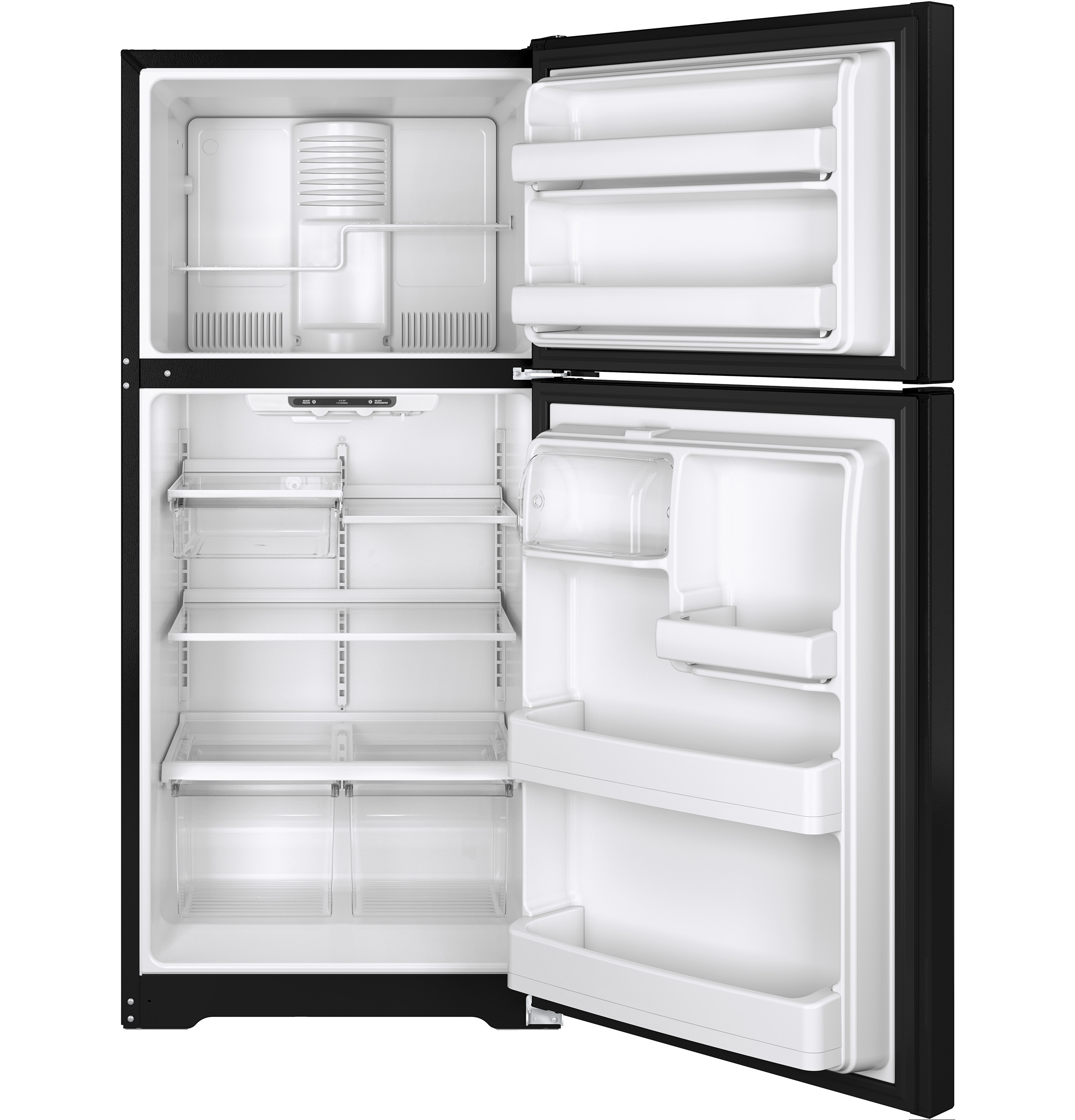 GE Appliances GTE18ITHBB 18.2 cu. ft. Top-Freezer Refrigerator - Black