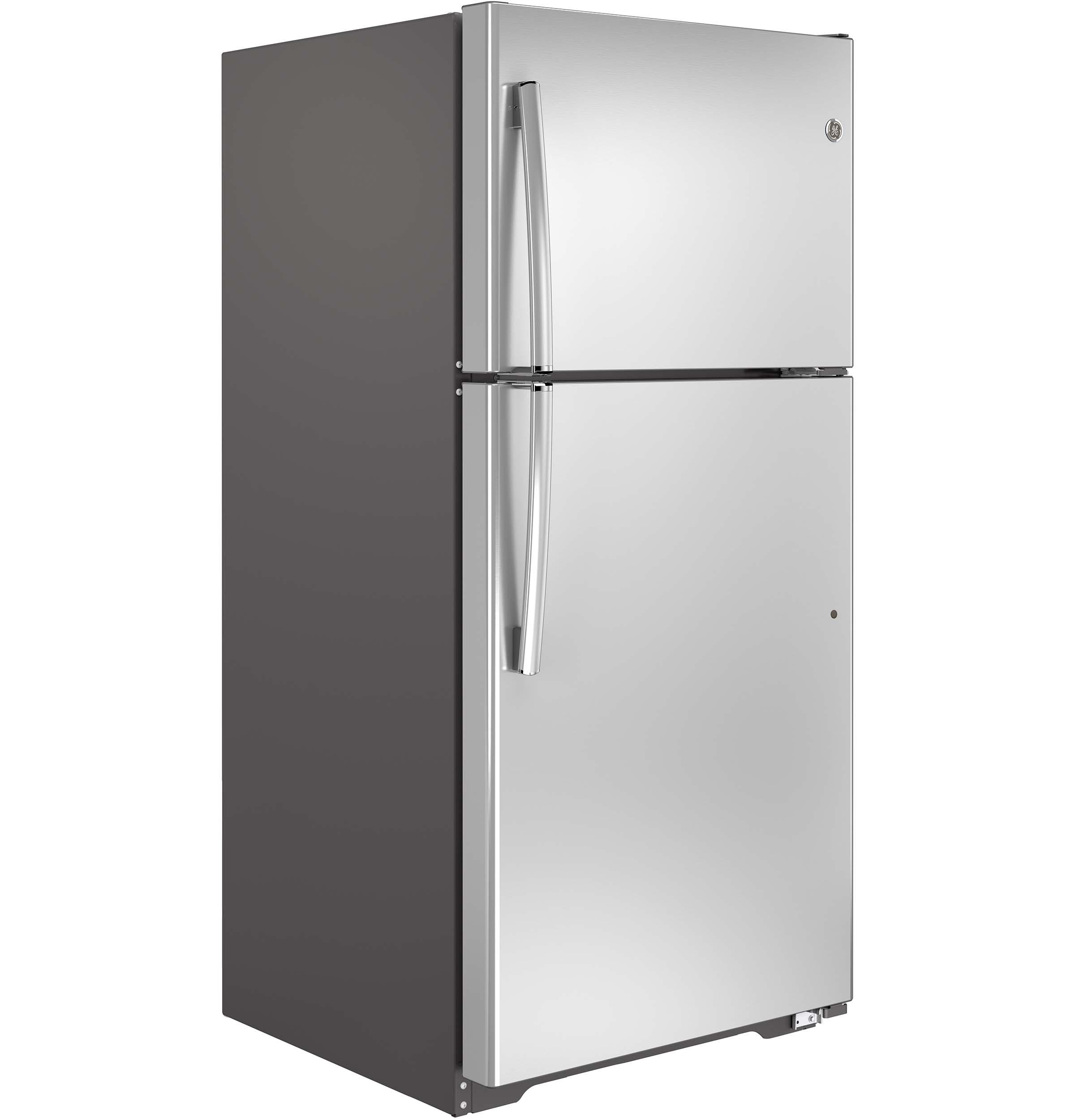 GE Appliances GTE18ISHSS 18.2 cu. ft. Top-Freezer Refrigerator - Stainless Steel