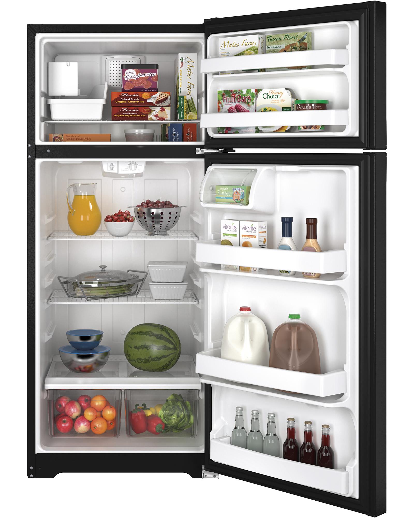 GE Appliances GIE18CTHBB 17.5 cu. ft. Top-Freezer Refrigerator - Black