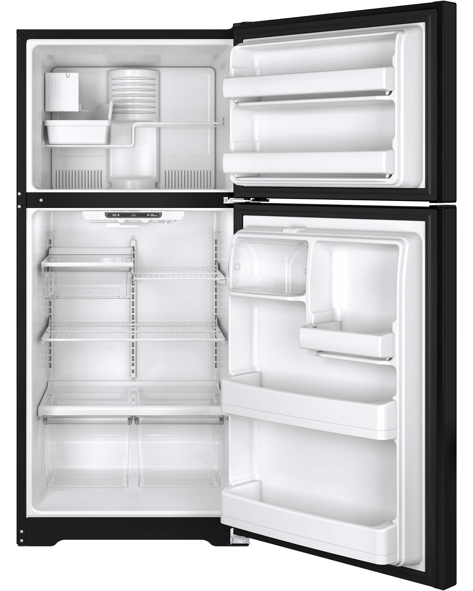 GE Appliances GIE18ETHBB 18.2 cu. ft. Top-Freezer Refrigerator - Black