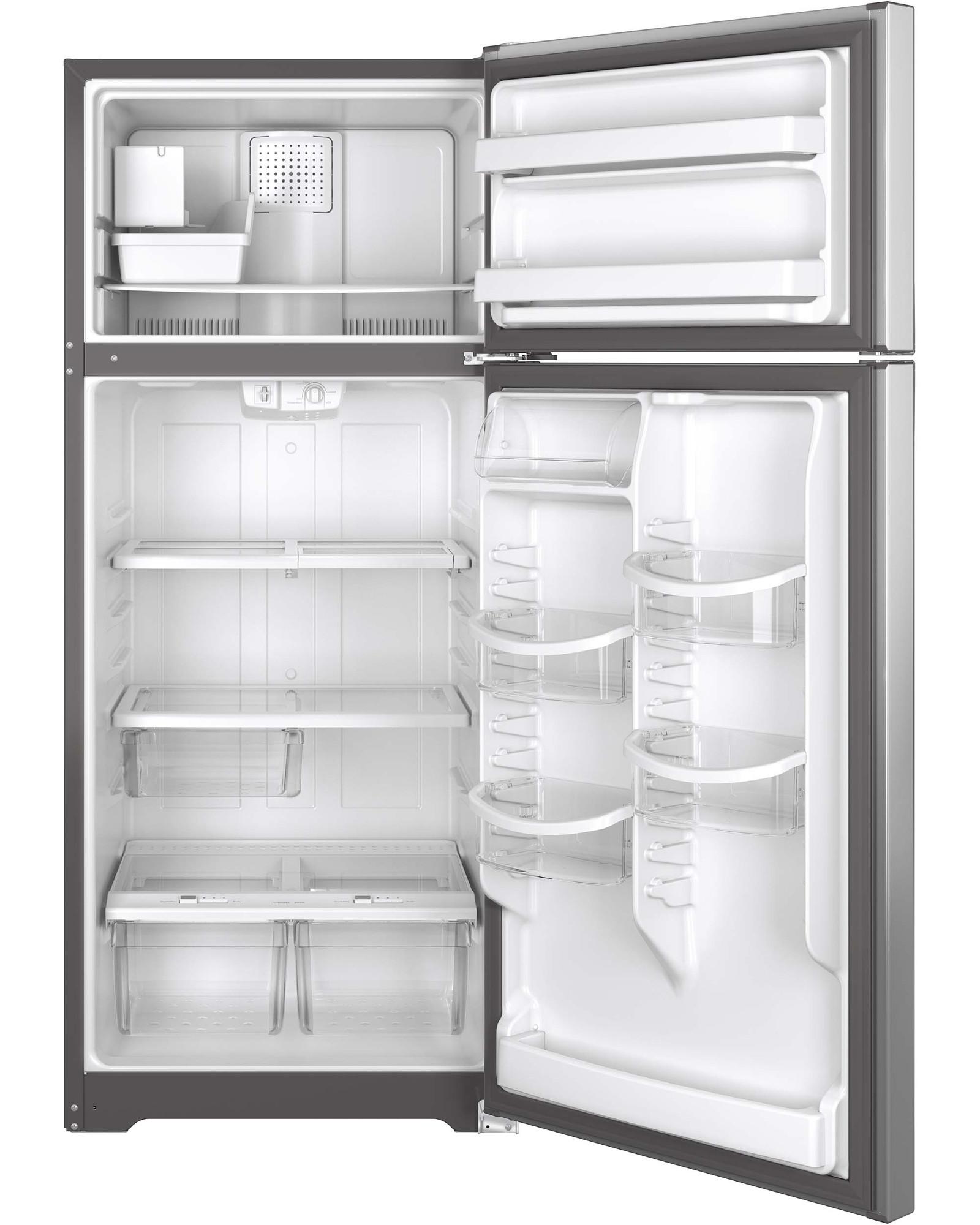 GE Appliances GIE18HSHSS 17.6 cu. ft. Top-Freezer Refrigerator - Stainless Steel
