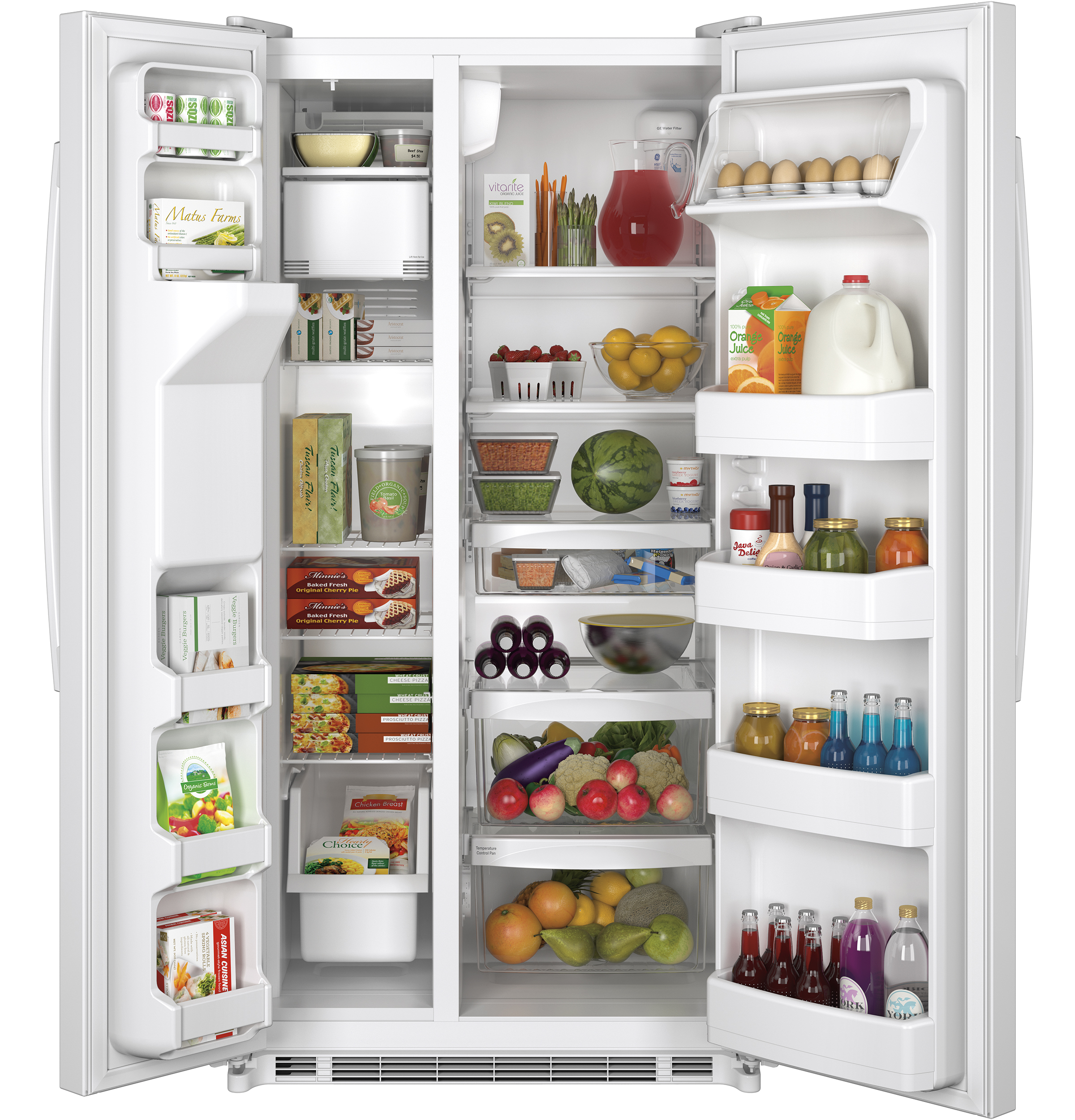 GE Appliances GSE22ETHWW 21.8 cu. ft. Side-by-Side Refrigerator - White