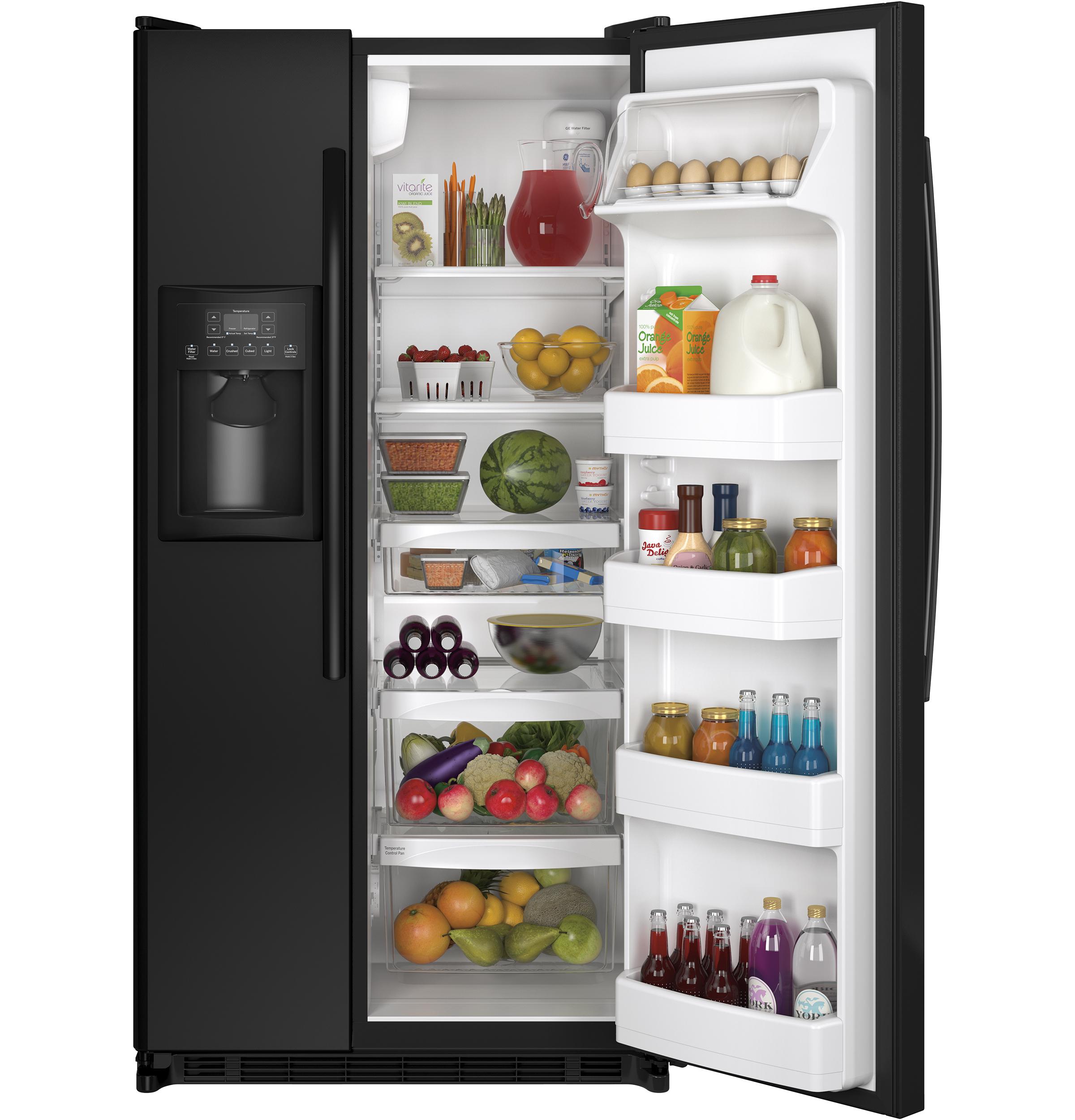 GE Appliances GSE22ETHBB 21.8 cu. ft. Side-by-Side Refrigerator - Black