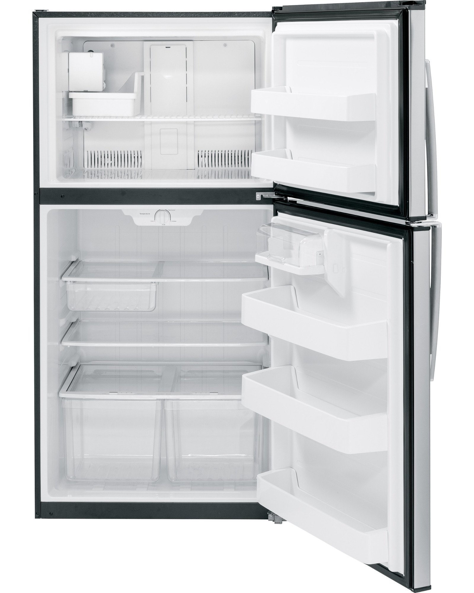 GE Appliances 21.2 cu. ft. Top-Freezer Refrigerator - Stainless Steel
