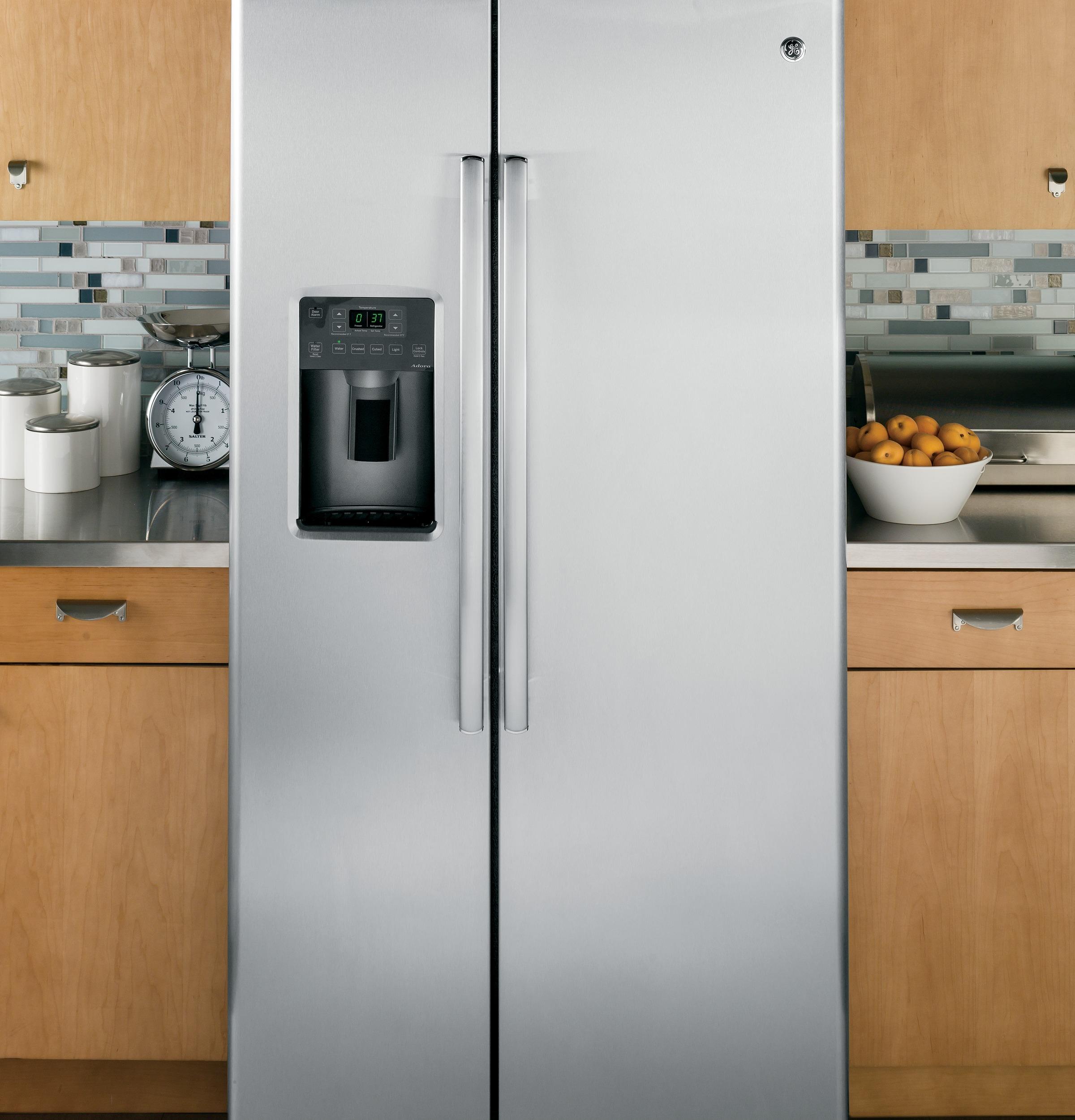 GE Appliances GSS25GSHSS 25.4 cu. ft. Side-By-Side Refrigerator - Stainless Steel