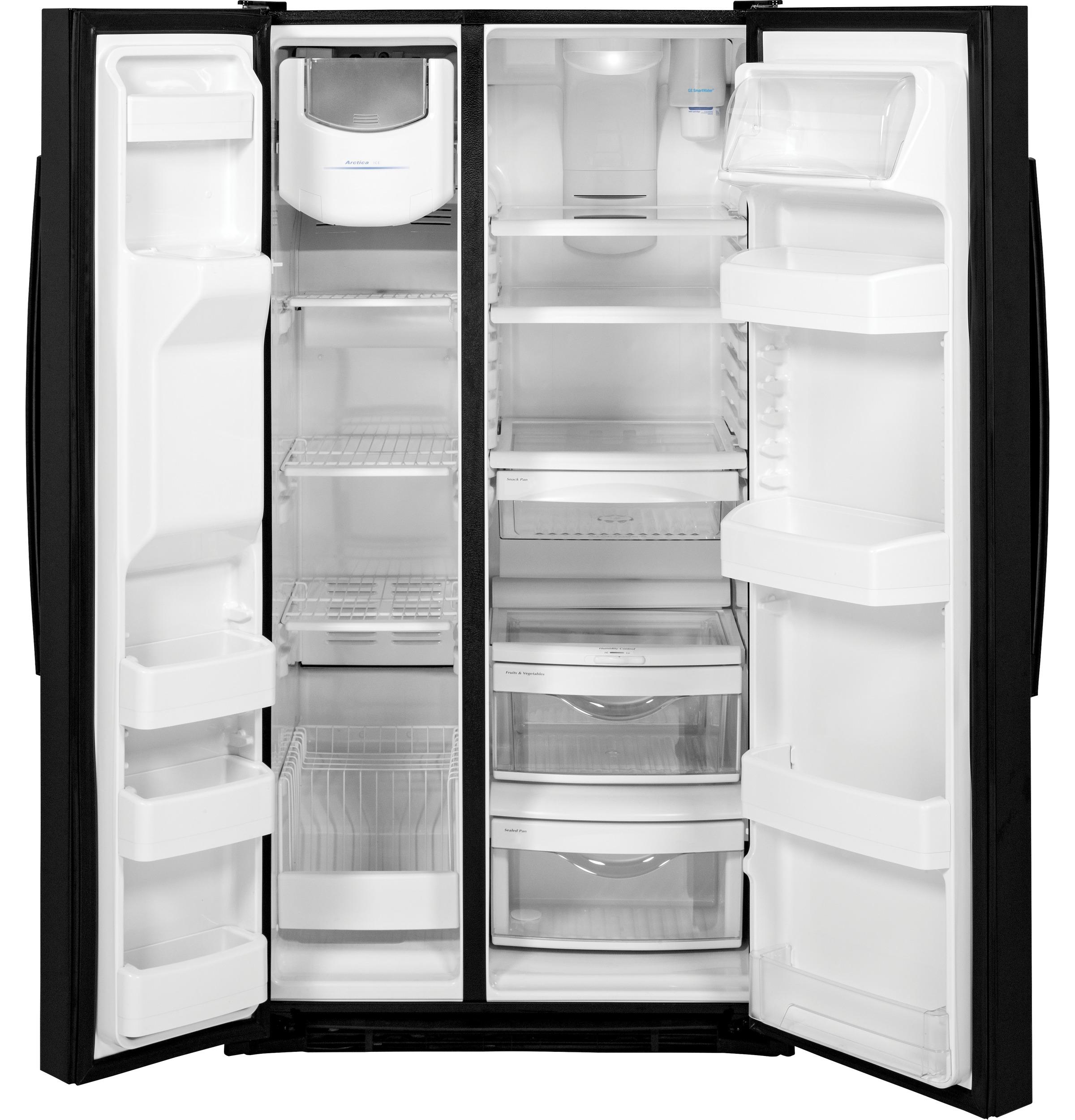 GE Appliances GSS25GGHBB 25.4 cu. ft. Side-By-Side Refrigerator - Black