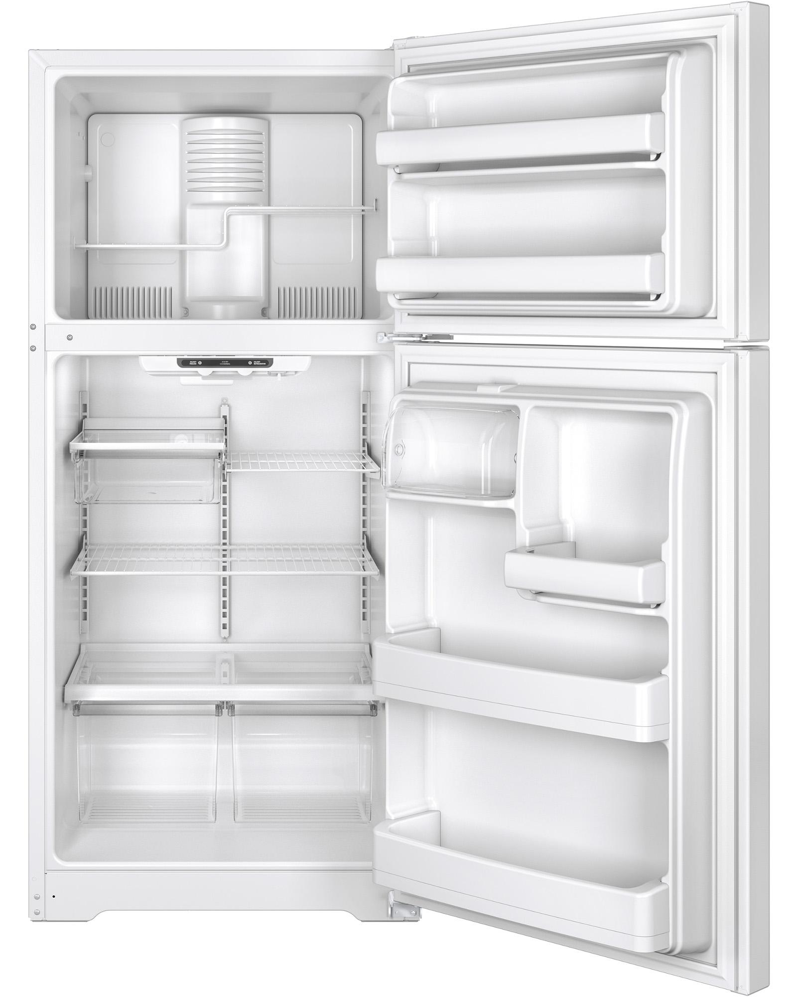GE Appliances GTE18ETHWW 18.2 cu. ft. Top-Freezer Refrigerator - White