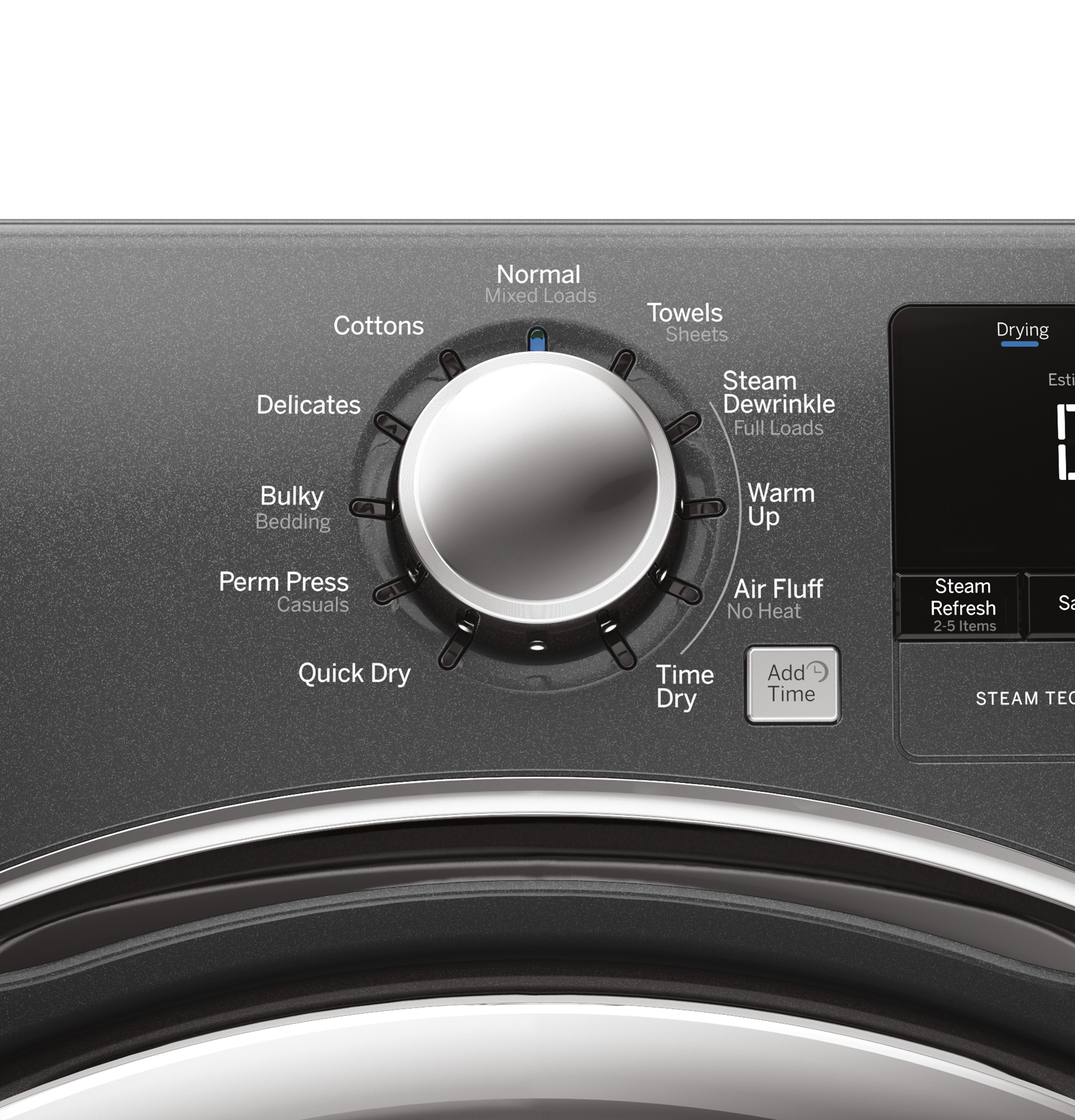 GE Appliances 7.5 cu. ft. Front-Load Electric Dryer w/ Steam - Diamond Gray GFDS175EHDG