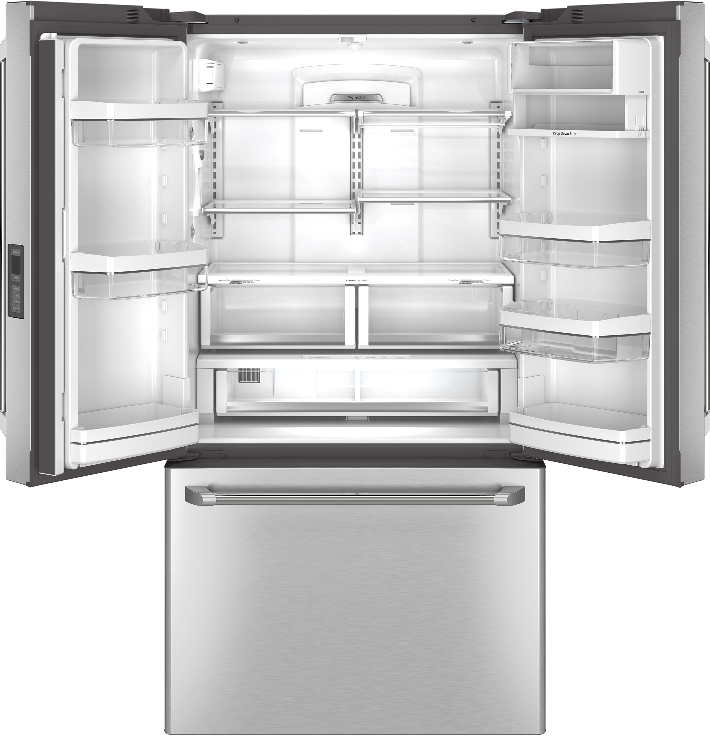 GE Cafe™ Series CWE23SSHSS 23 cu. ft. Counter-Depth French-Door Refrigerator - Stainless Steel